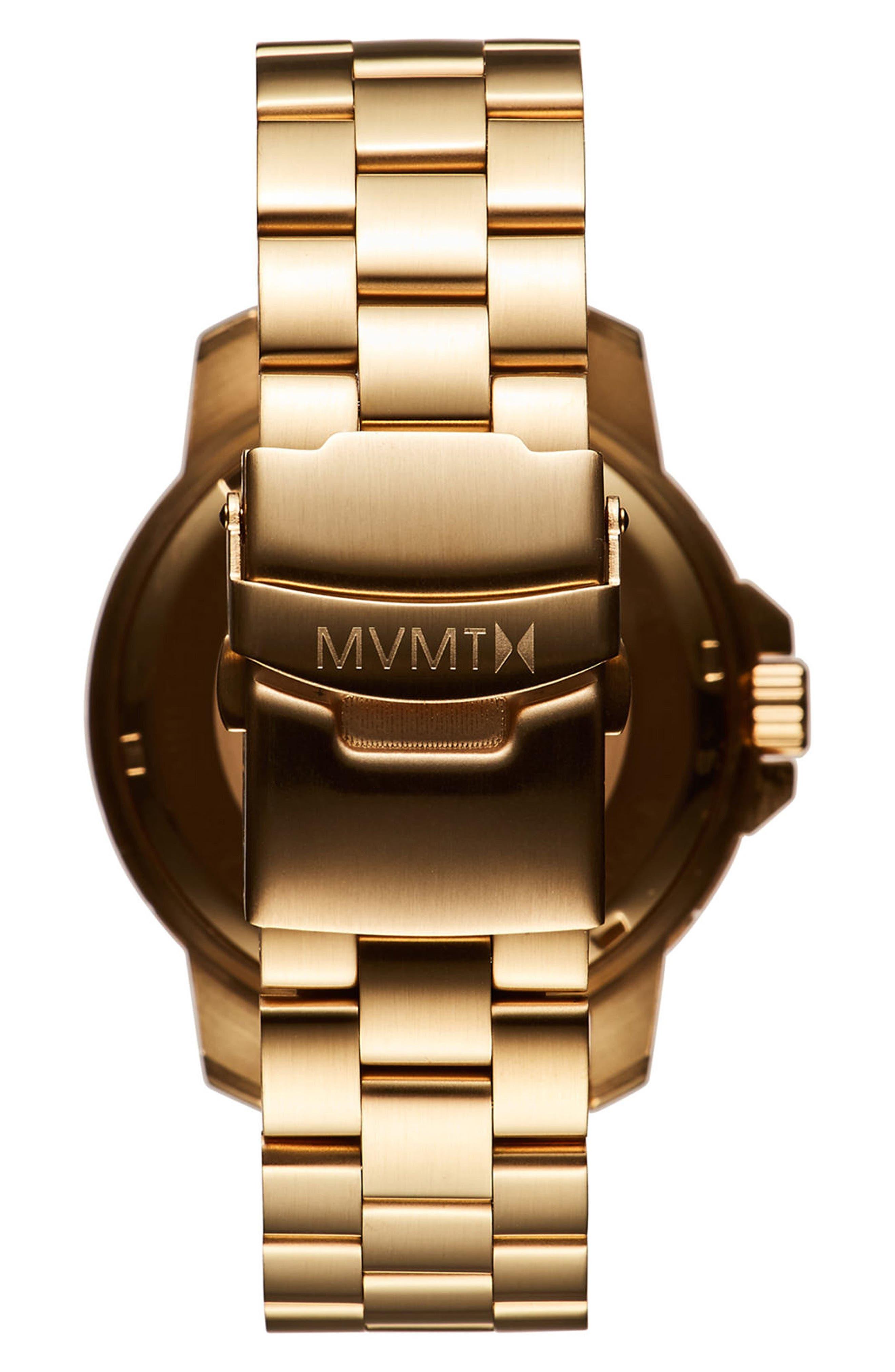 Modern Sport Bracelet Watch, 42mm,                             Alternate thumbnail 2, color,                             Black/ Gold