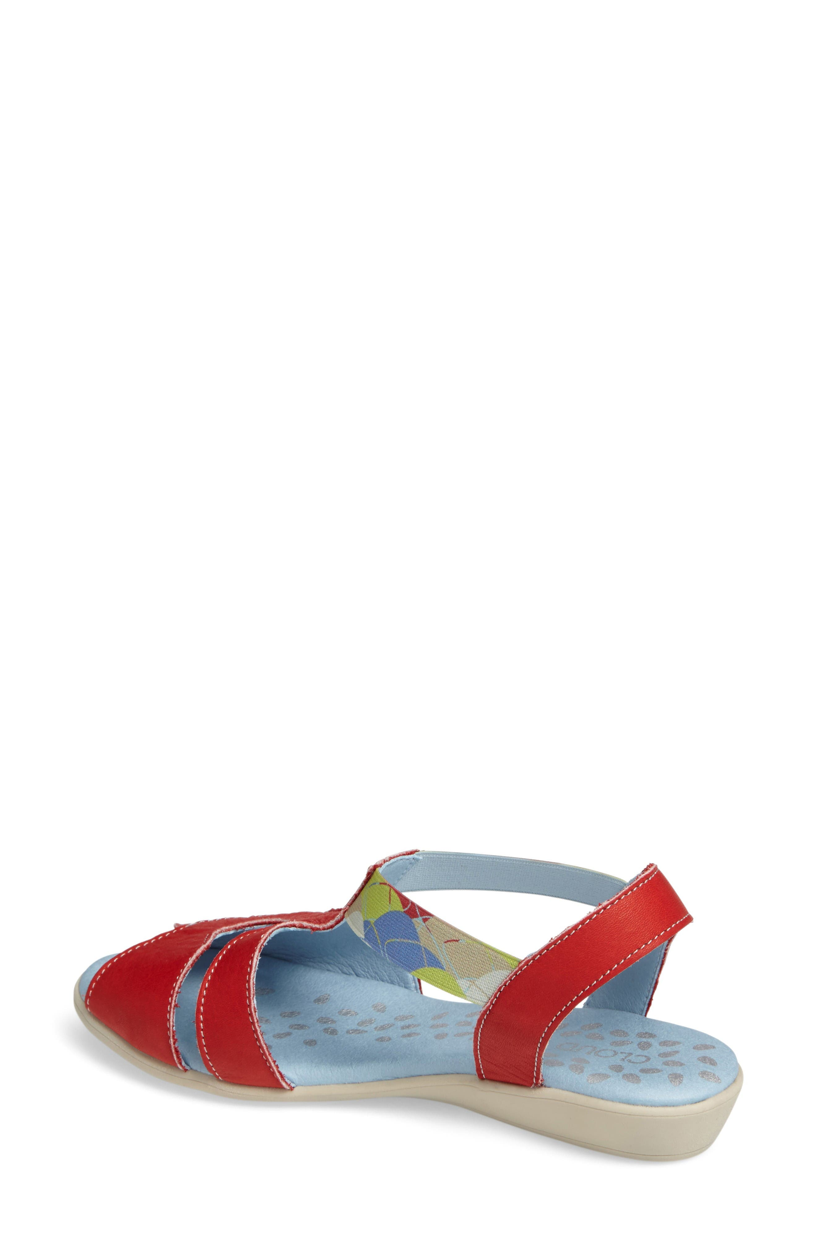 Chaya Sandal,                             Alternate thumbnail 2, color,                             Red Leather
