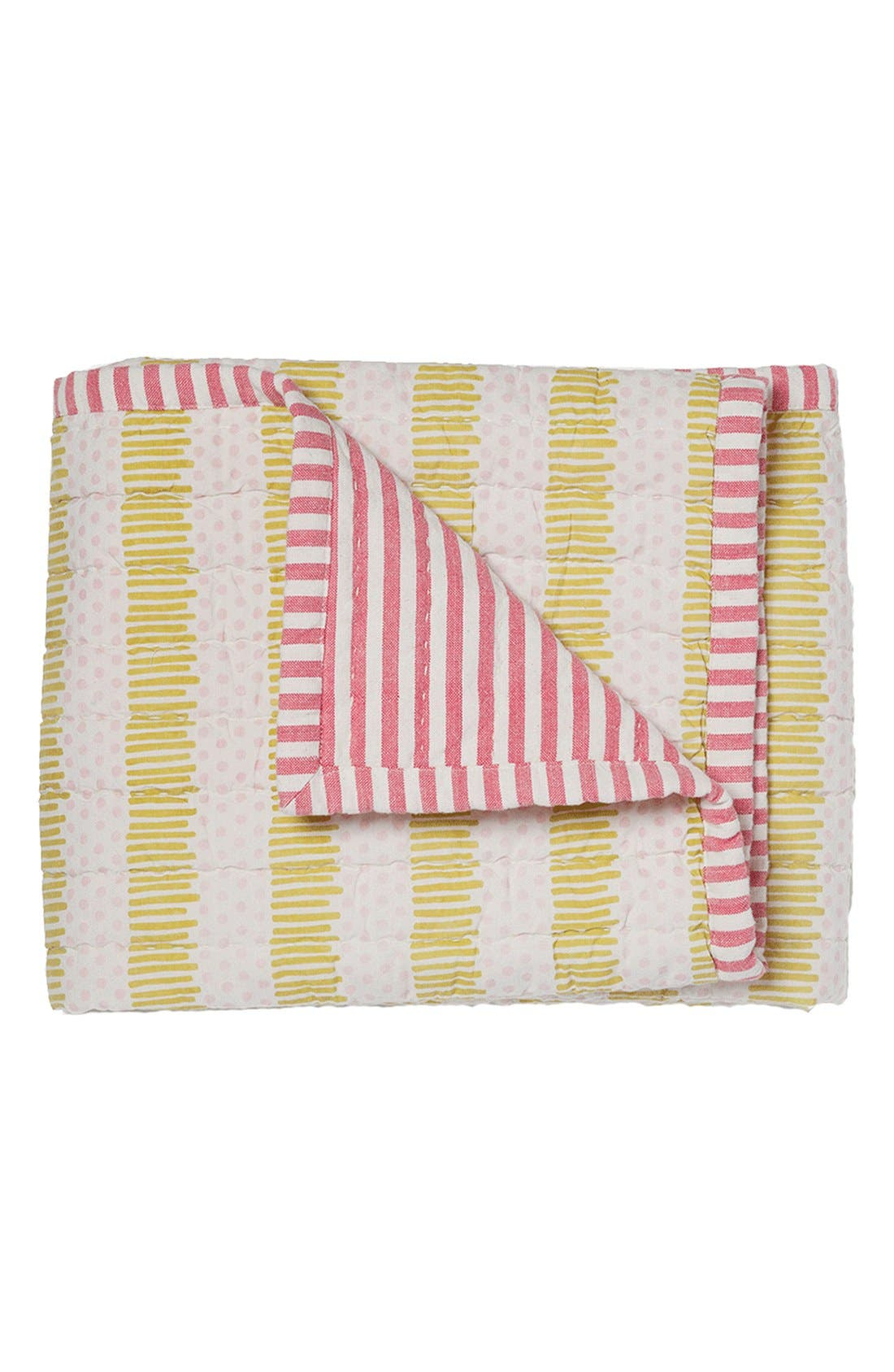 'Hug Me Tight' Cotton Baby Blanket,                             Main thumbnail 1, color,                             Pink/ Citron