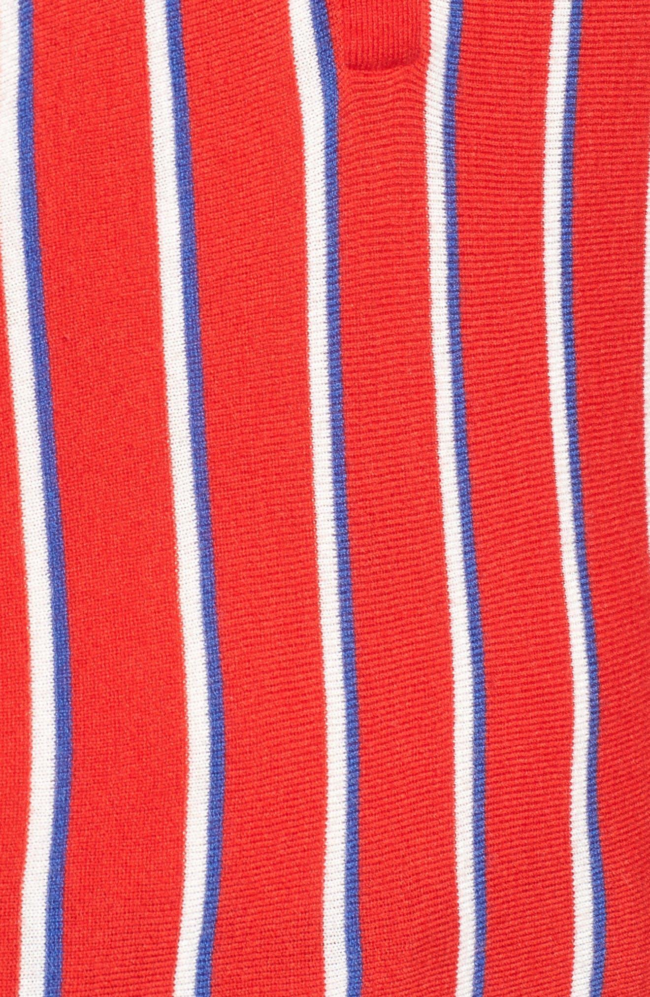 Alternate Image 6  - Halogen® Stripe Polo Sweater (Regular & Petite)