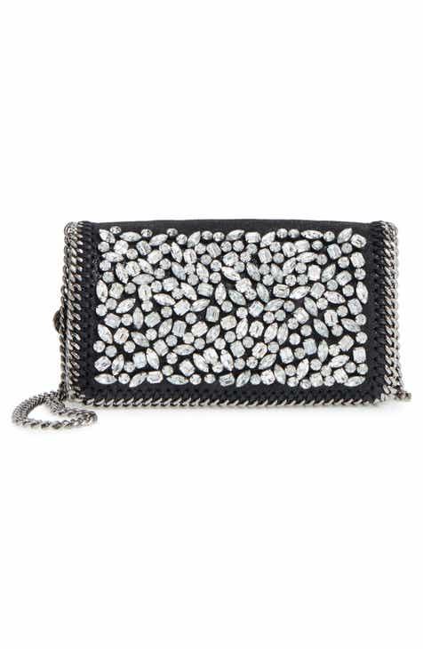 3dffbf06507 Stella McCartney Small Fallabella Crystal Faux Leather Crossbody Bag