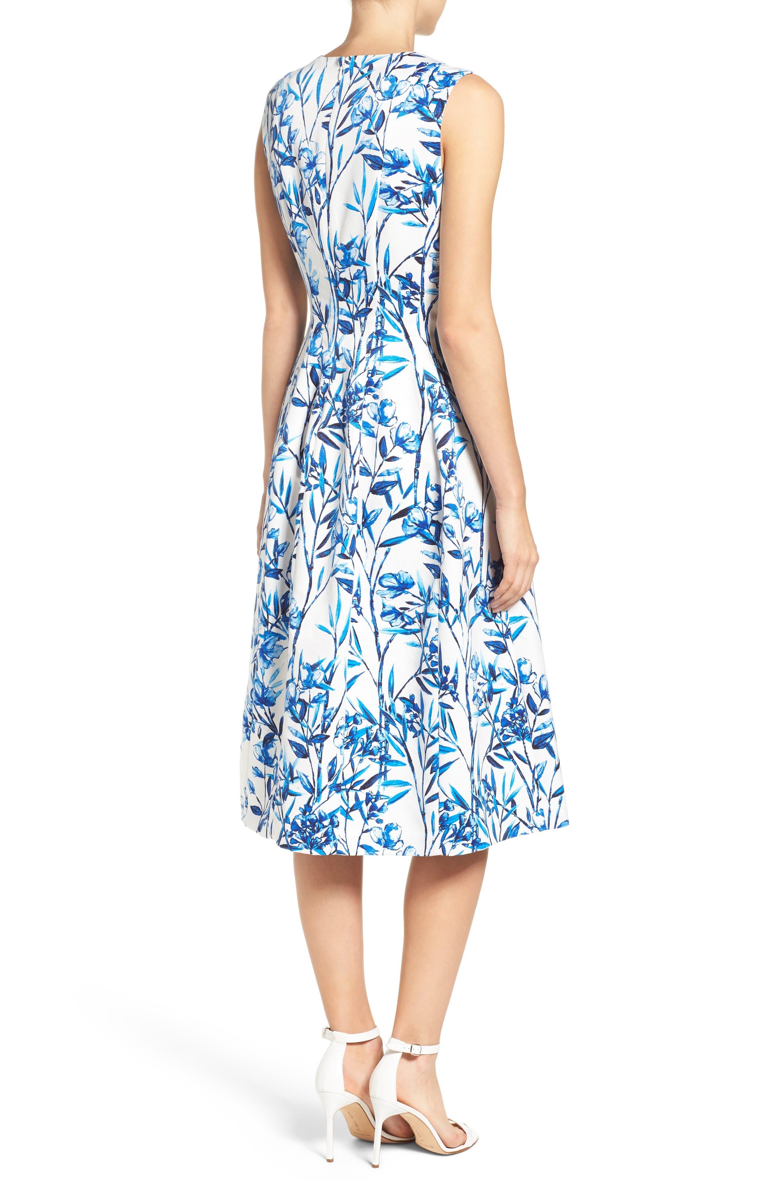 Alternate Image 2  - Eliza J Fit & Flare Midi Dress