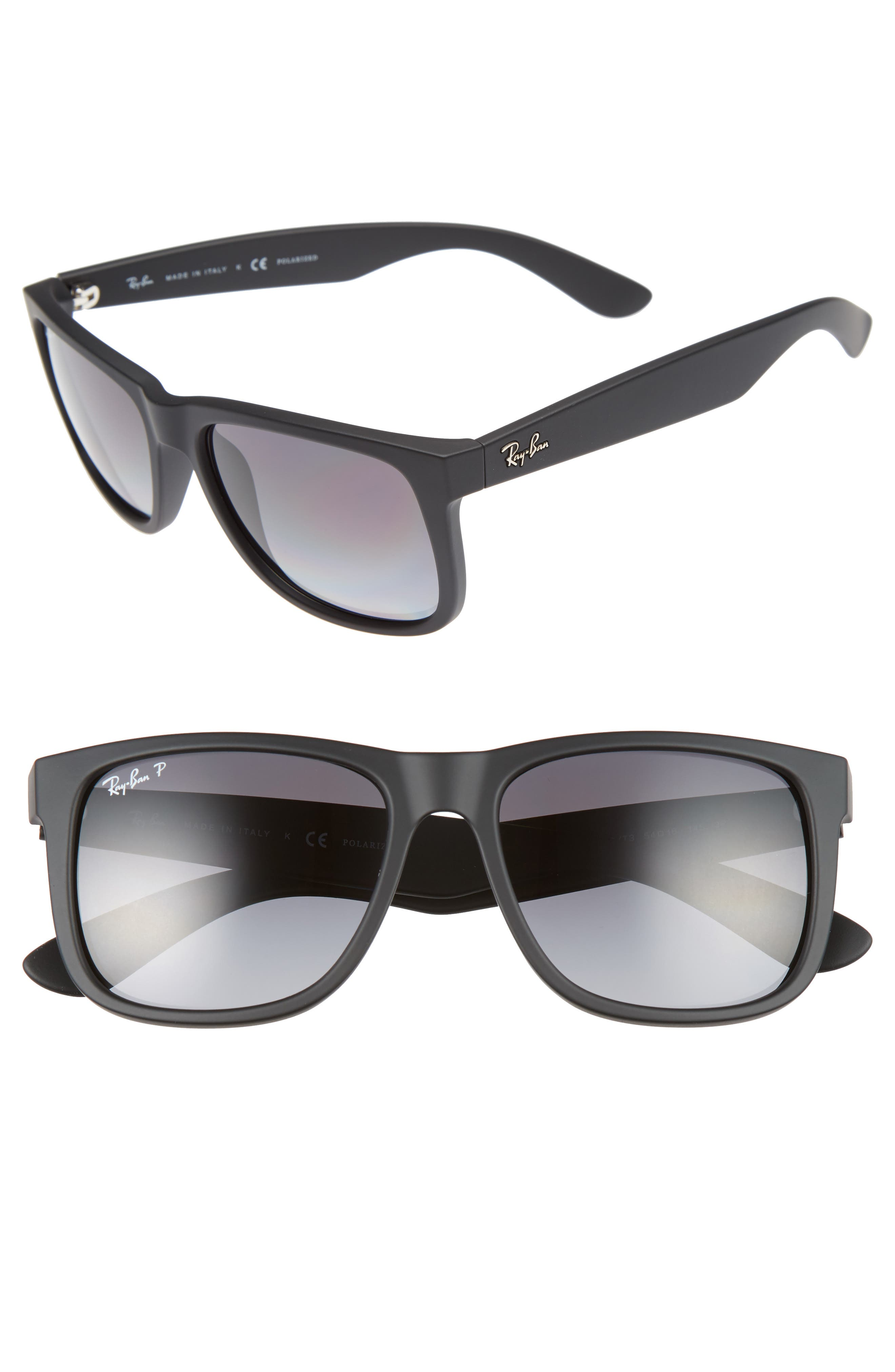 Justin 54mm Polarized Sunglasses,                             Main thumbnail 1, color,                             Matte Dark Grey
