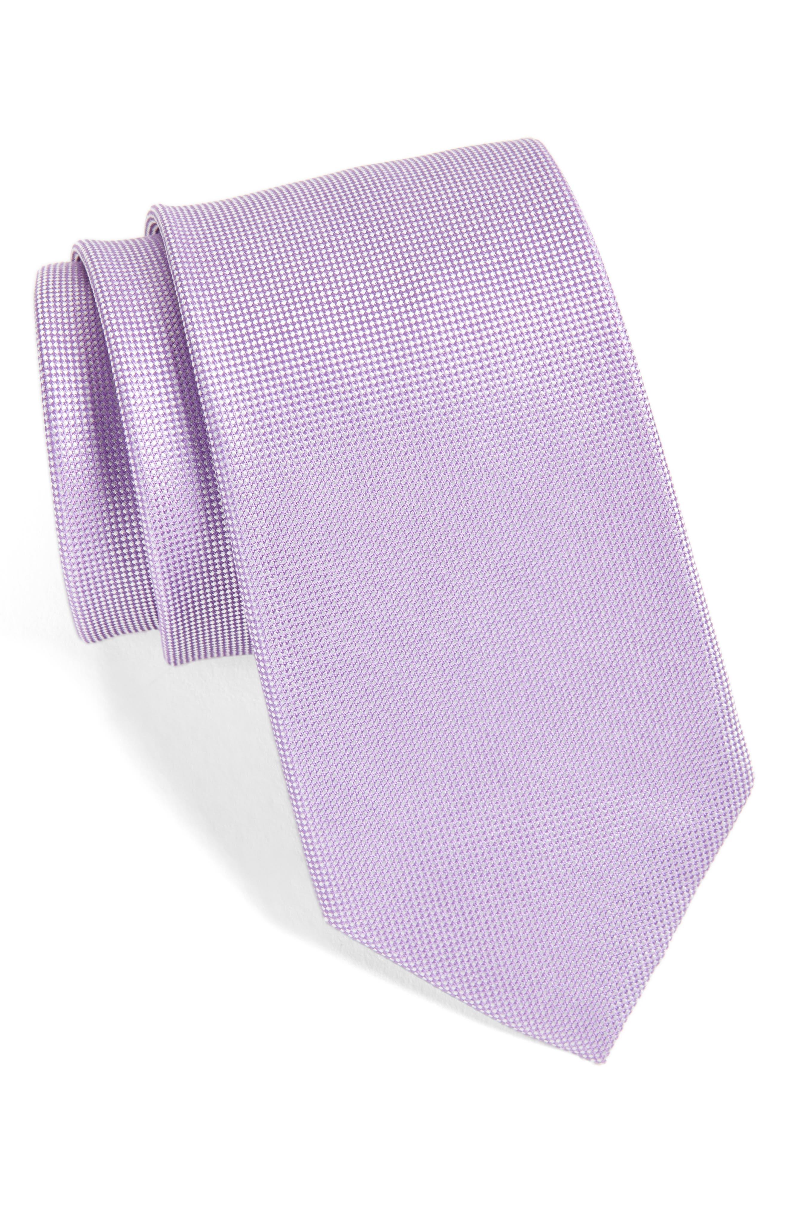 Foley Silk Tie,                         Main,                         color, Purple