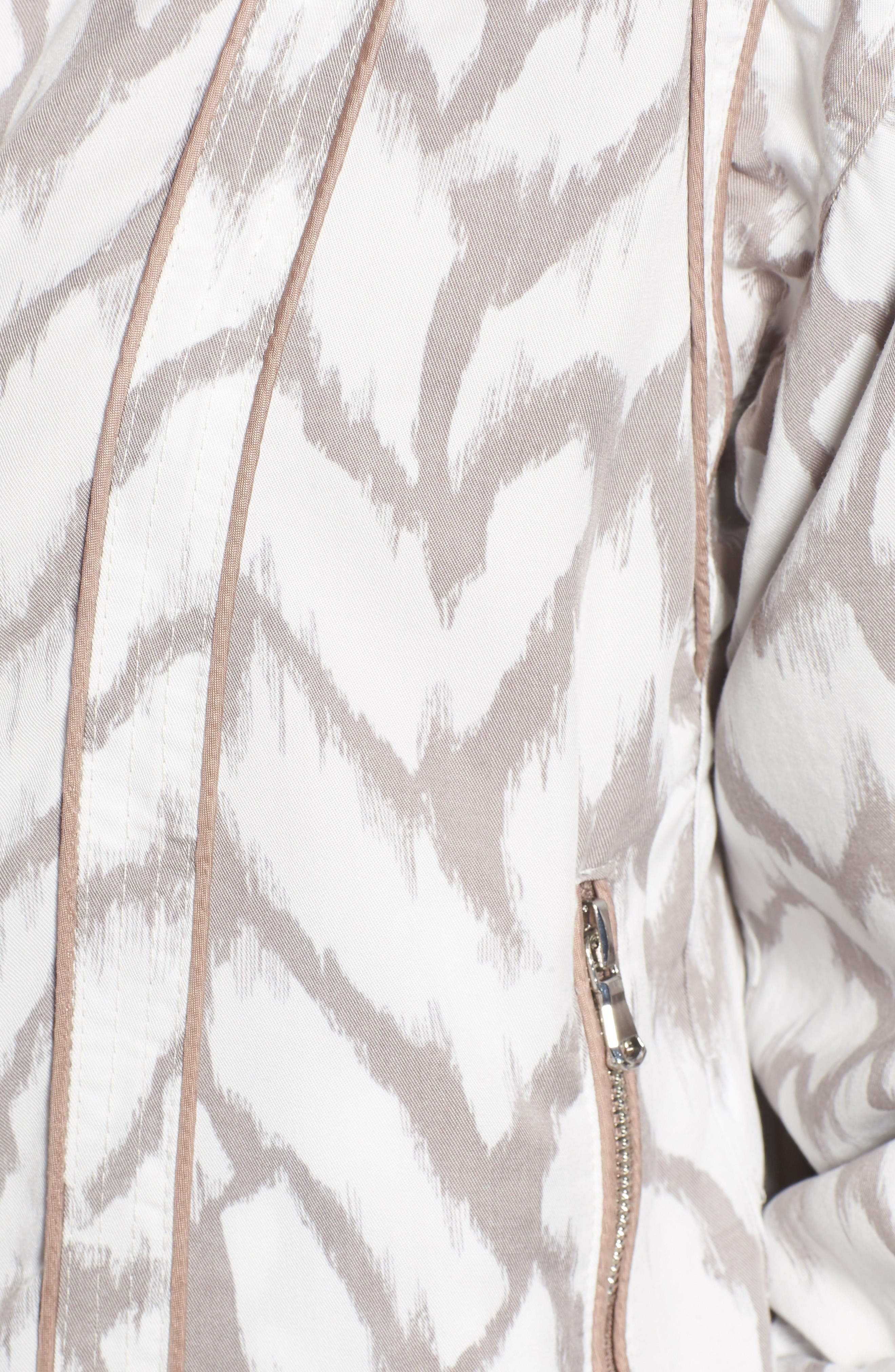 Deep Truth Reversible Jacket,                             Alternate thumbnail 6, color,                             Deep Truth Taupe/ White Print