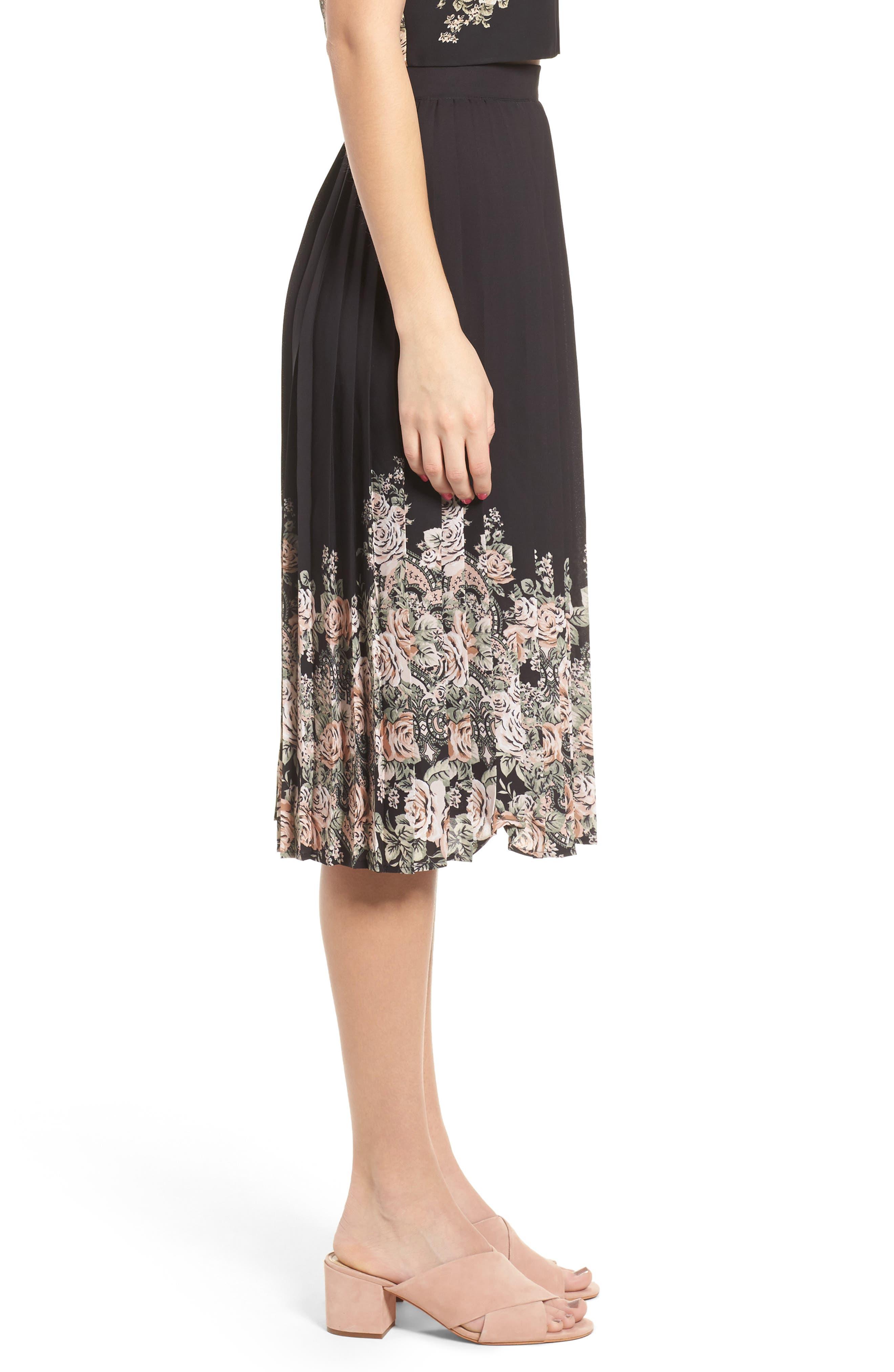 Alternate Image 4  - June & Hudson Pleated Skirt