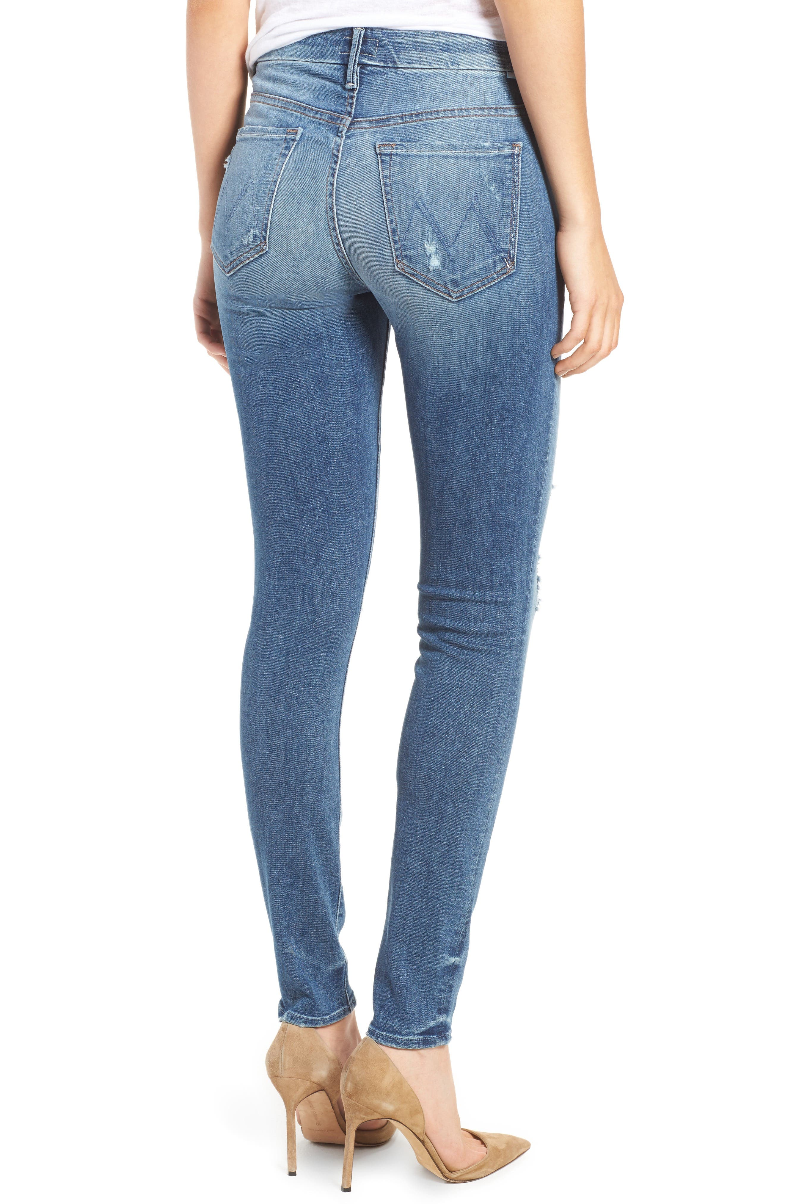 Alternate Image 2  - MOTHER The Looker High Waist Skinny Jeans (Loud Is How I Love You)