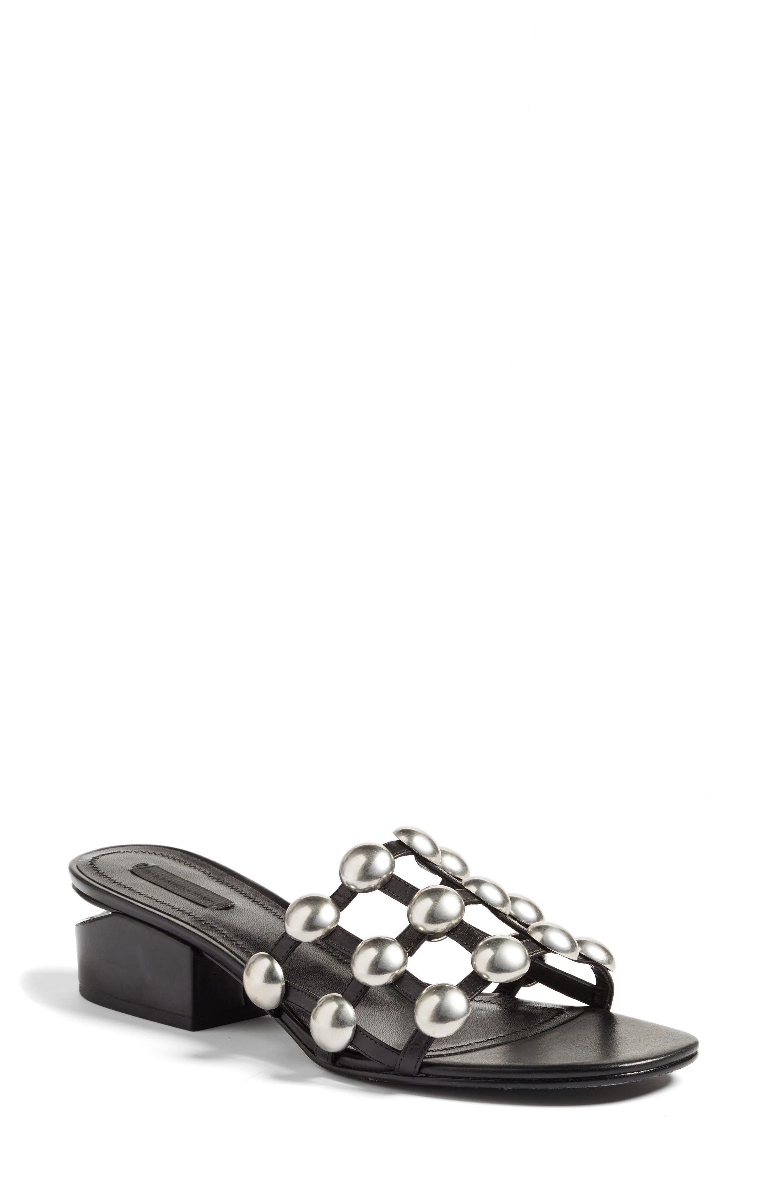 Alexander Wang Lou Stud Slide Sandal (Women)