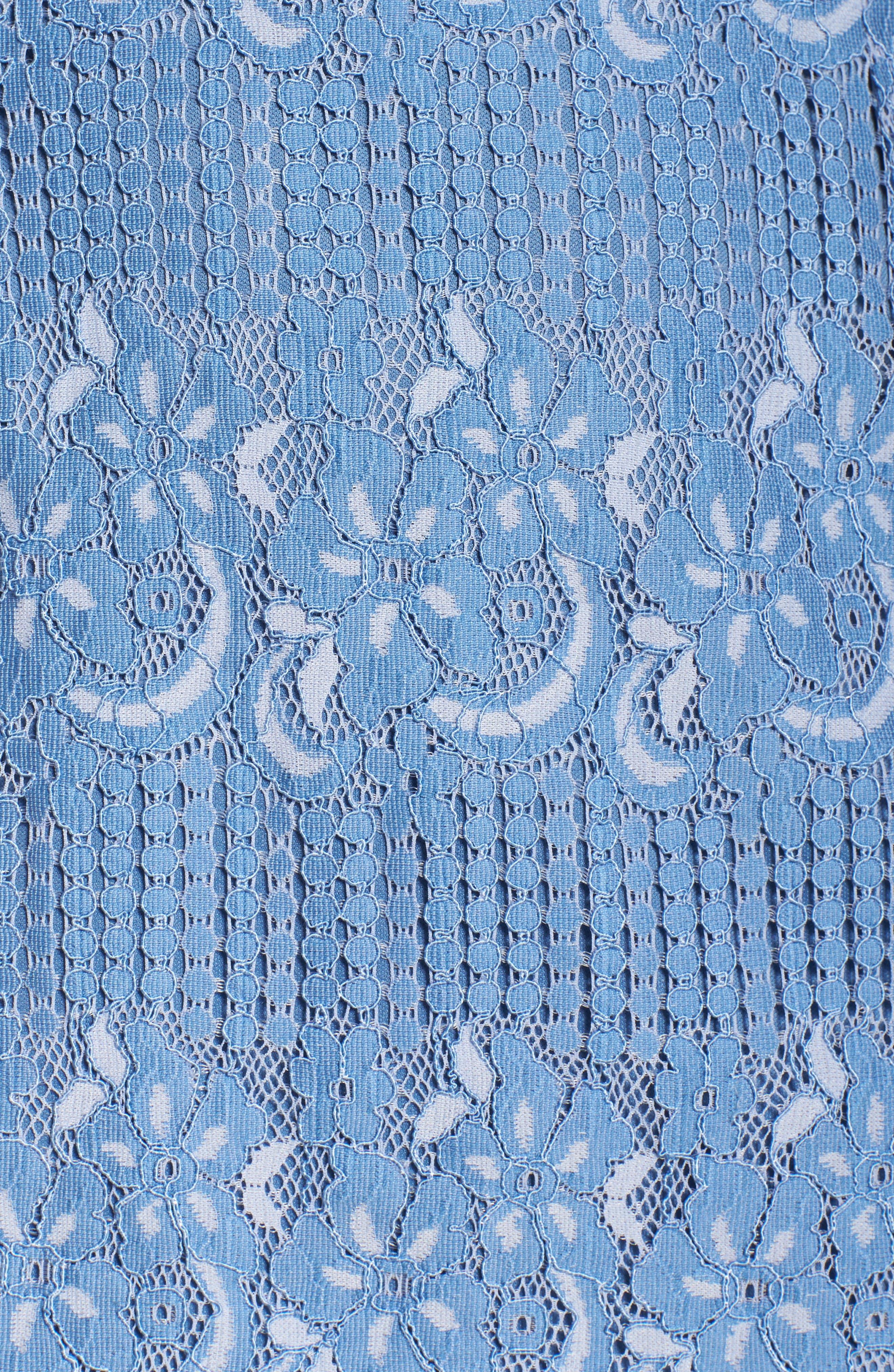 Alternate Image 5  - NSR Floral Lace Slipdress