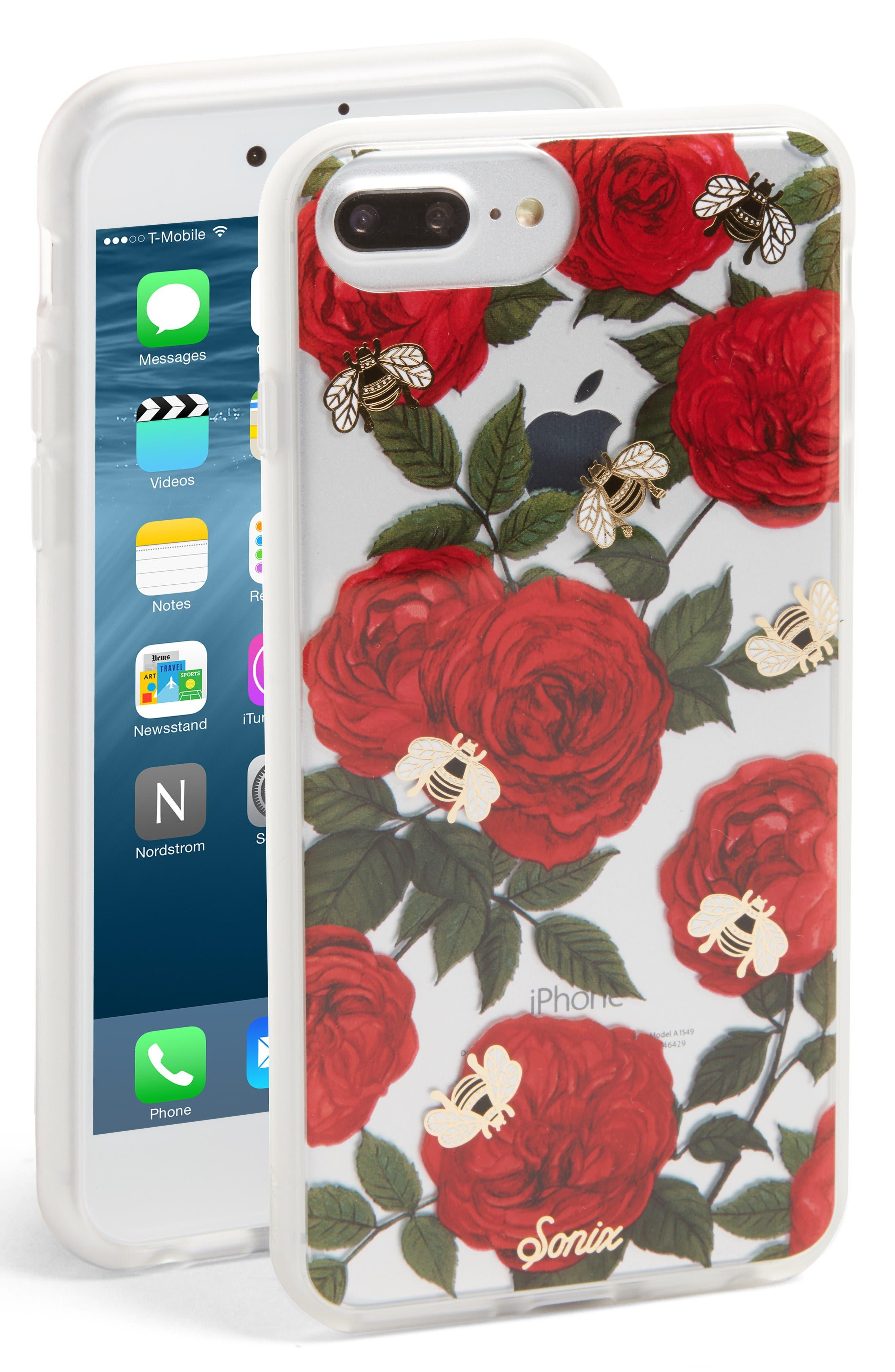 Primrose iPhone 6/6s/7/8 & 6/6s/7/8 Plus Case,                             Main thumbnail 1, color,                             Red