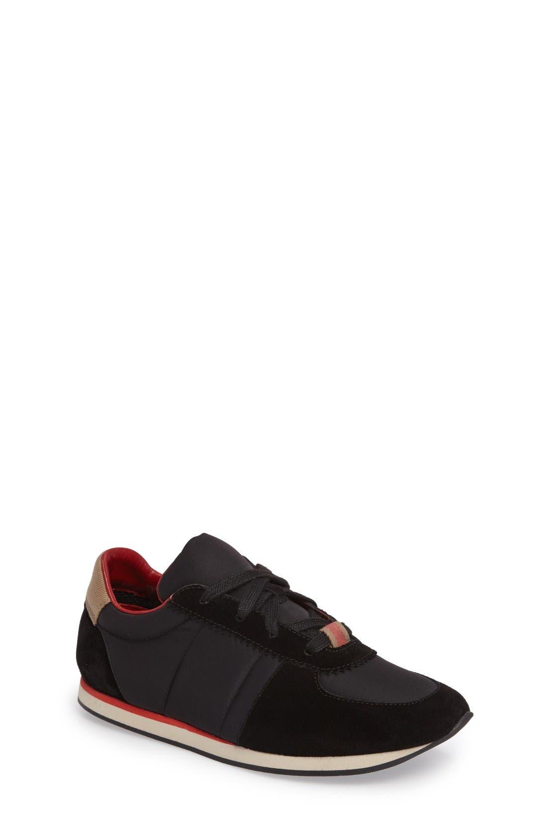Alternate Image 1 Selected - Burberry Mini Track Sneaker (Walker, Toddler & Little Kid)