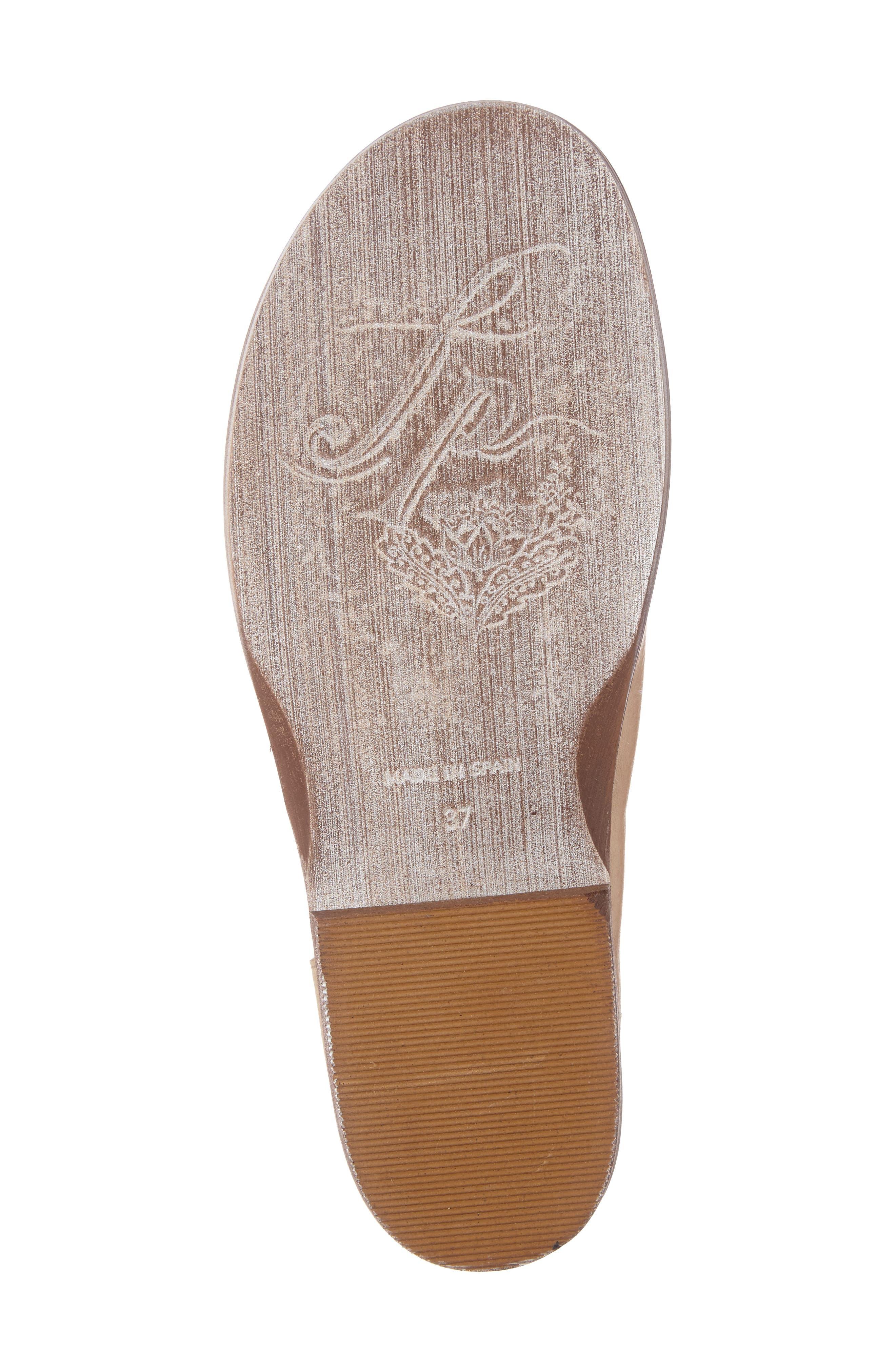 'Mont Blanc' Asymmetrical Sandal,                             Alternate thumbnail 4, color,                             Natural Leather