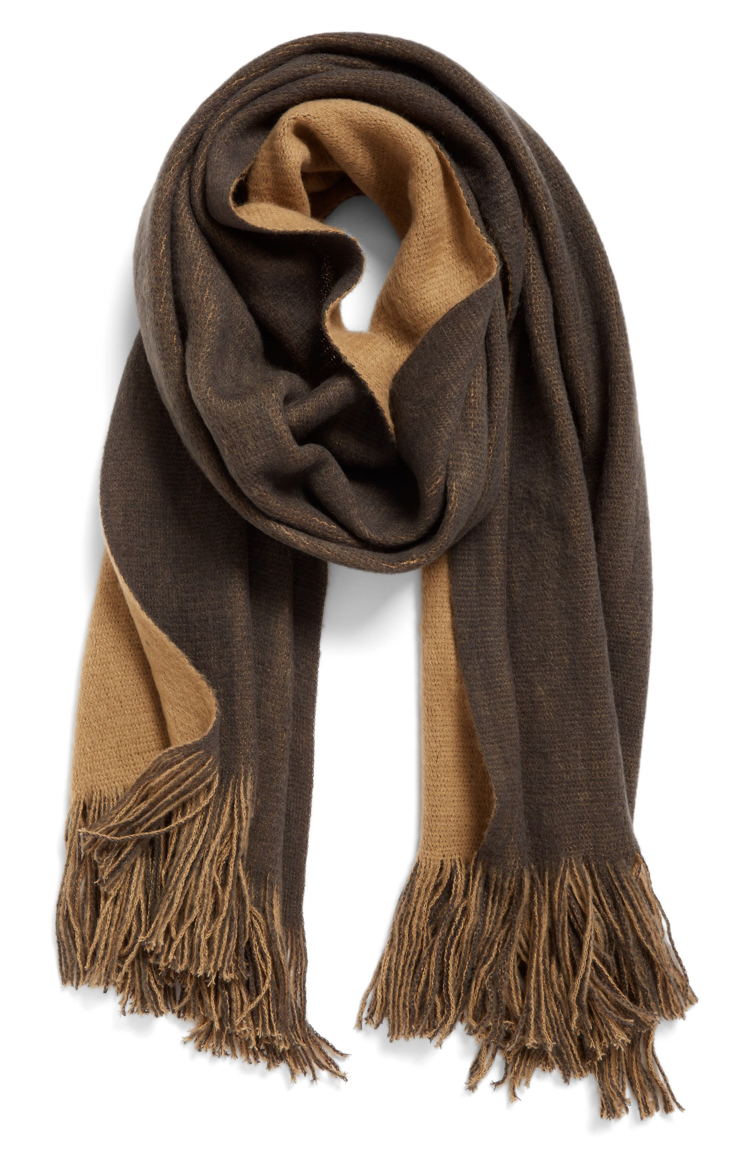Two-Tone Scarf,                         Main,                         color, Grey