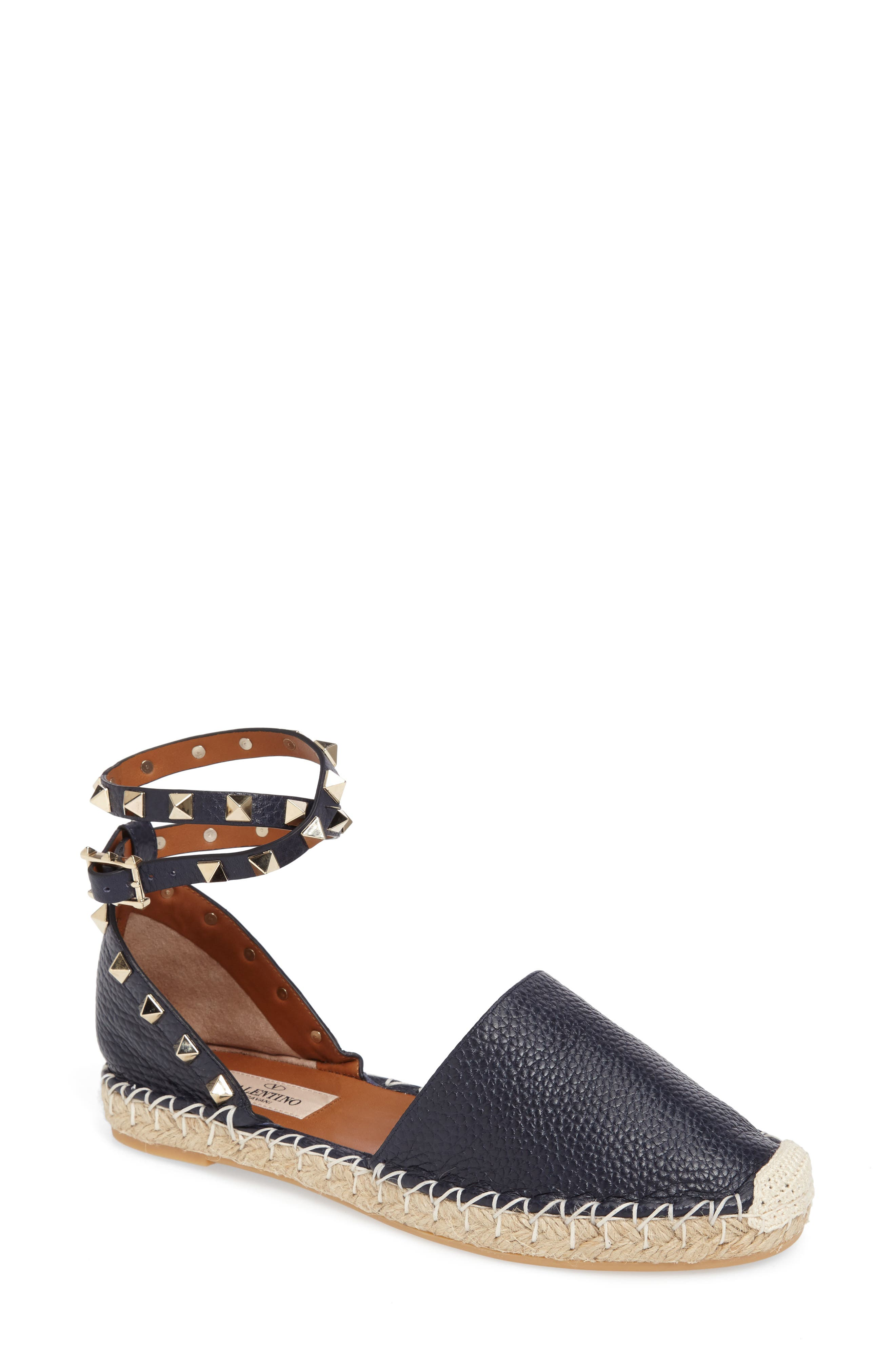 Alternate Image 1 Selected - Valentino Rockstud Espadrille Sandal (Women)