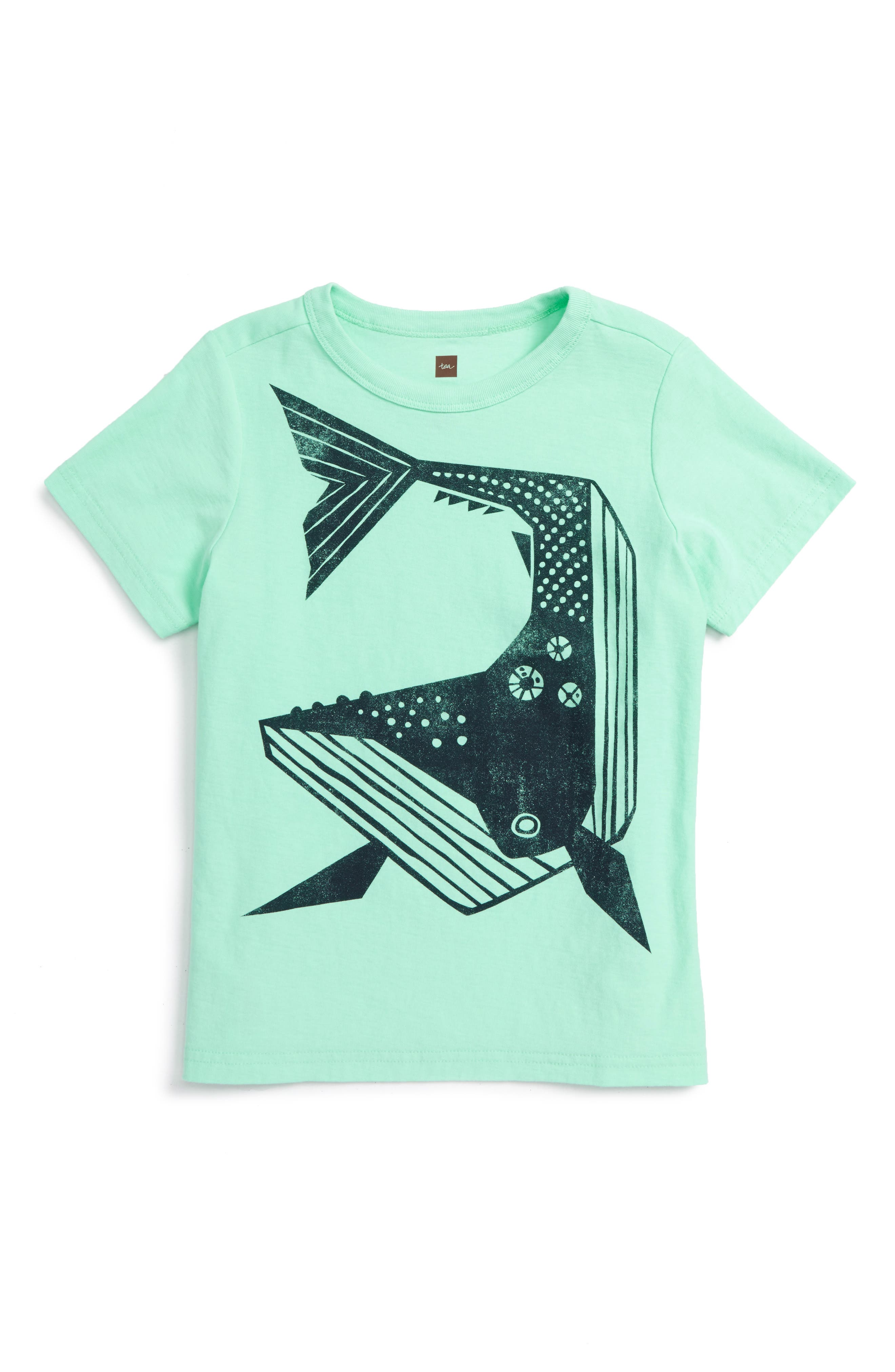 Alternate Image 1 Selected - Tea Collection Whale Then Graphic T-Shirt (Toddler Boys & Little Boys)