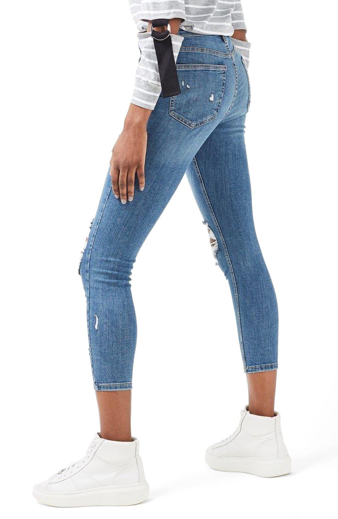 Alternate Image 3  - Topshop Moto Jamie Super Rip Skinny Jeans (Petite)