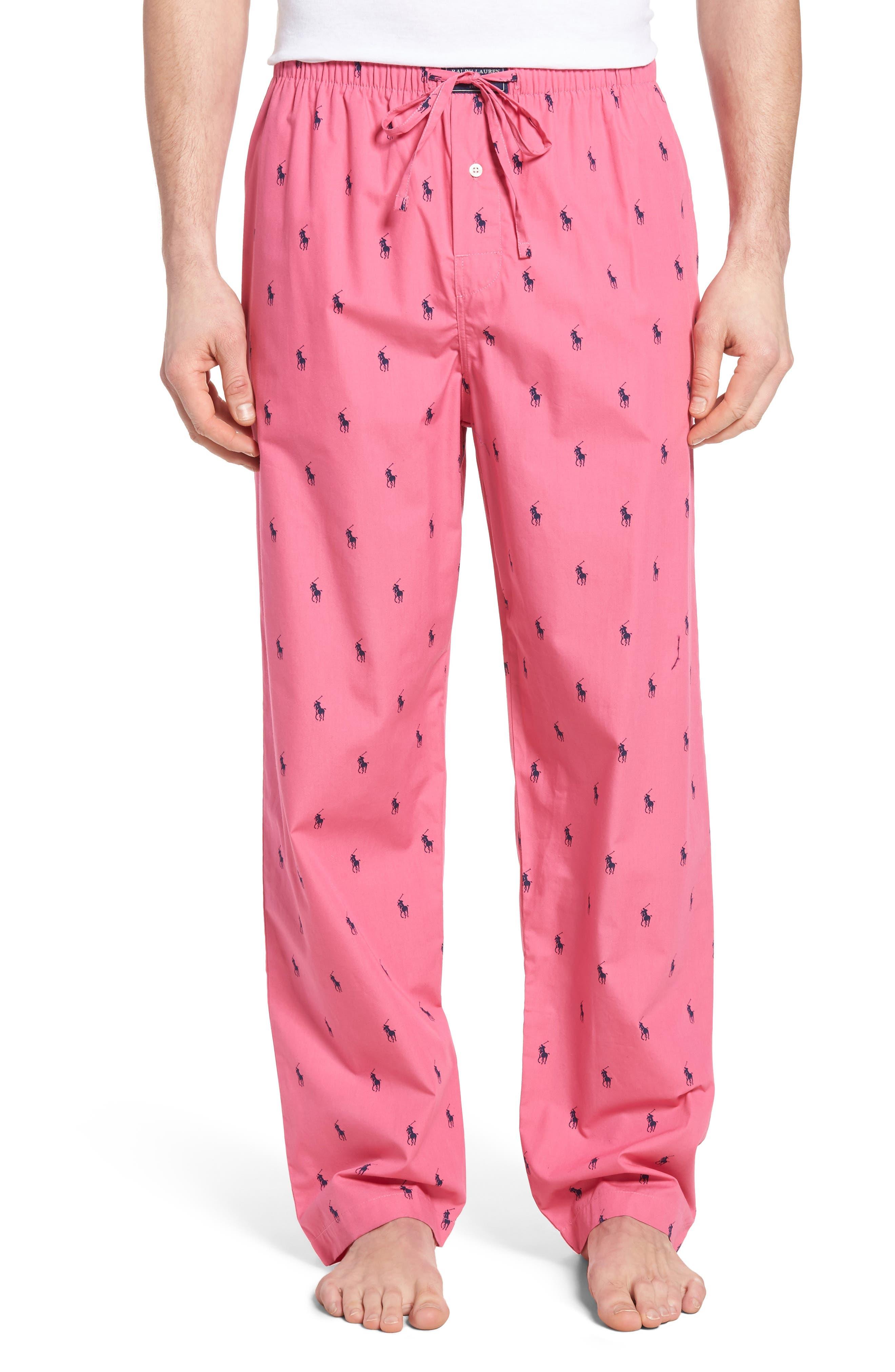 Cotton Lounge Pants,                         Main,                         color, Madison Pink