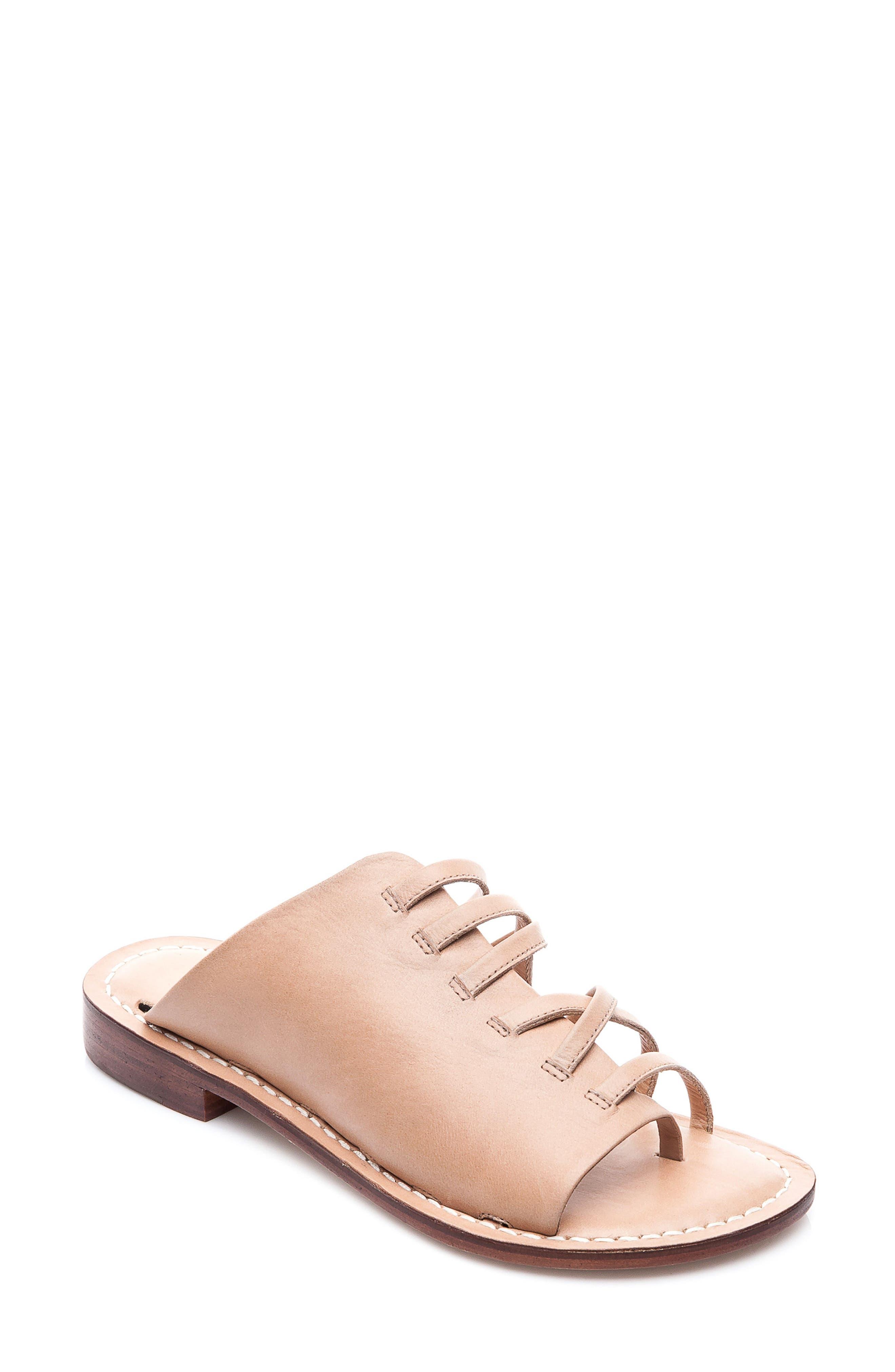 Bernardo Tori Slide Sandal,                             Main thumbnail 1, color,                             Light Camel Leather