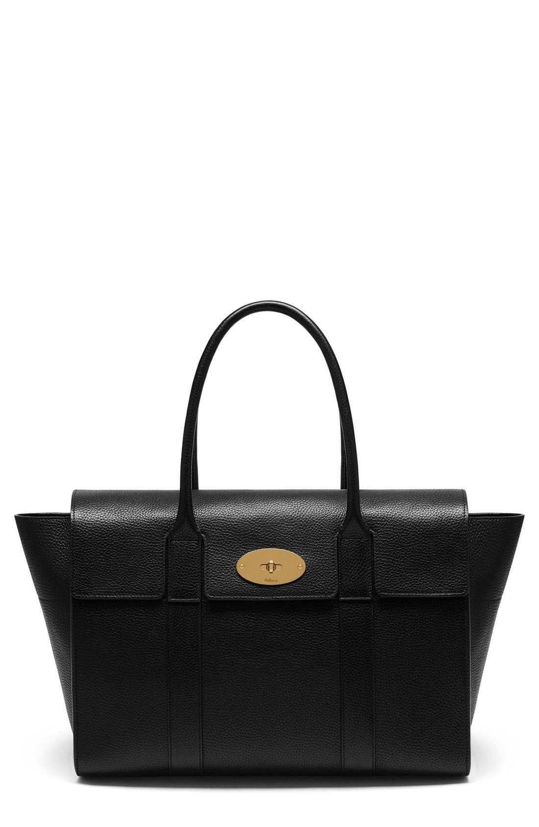 Mulberry New Bayswater Grained Leather Satchel