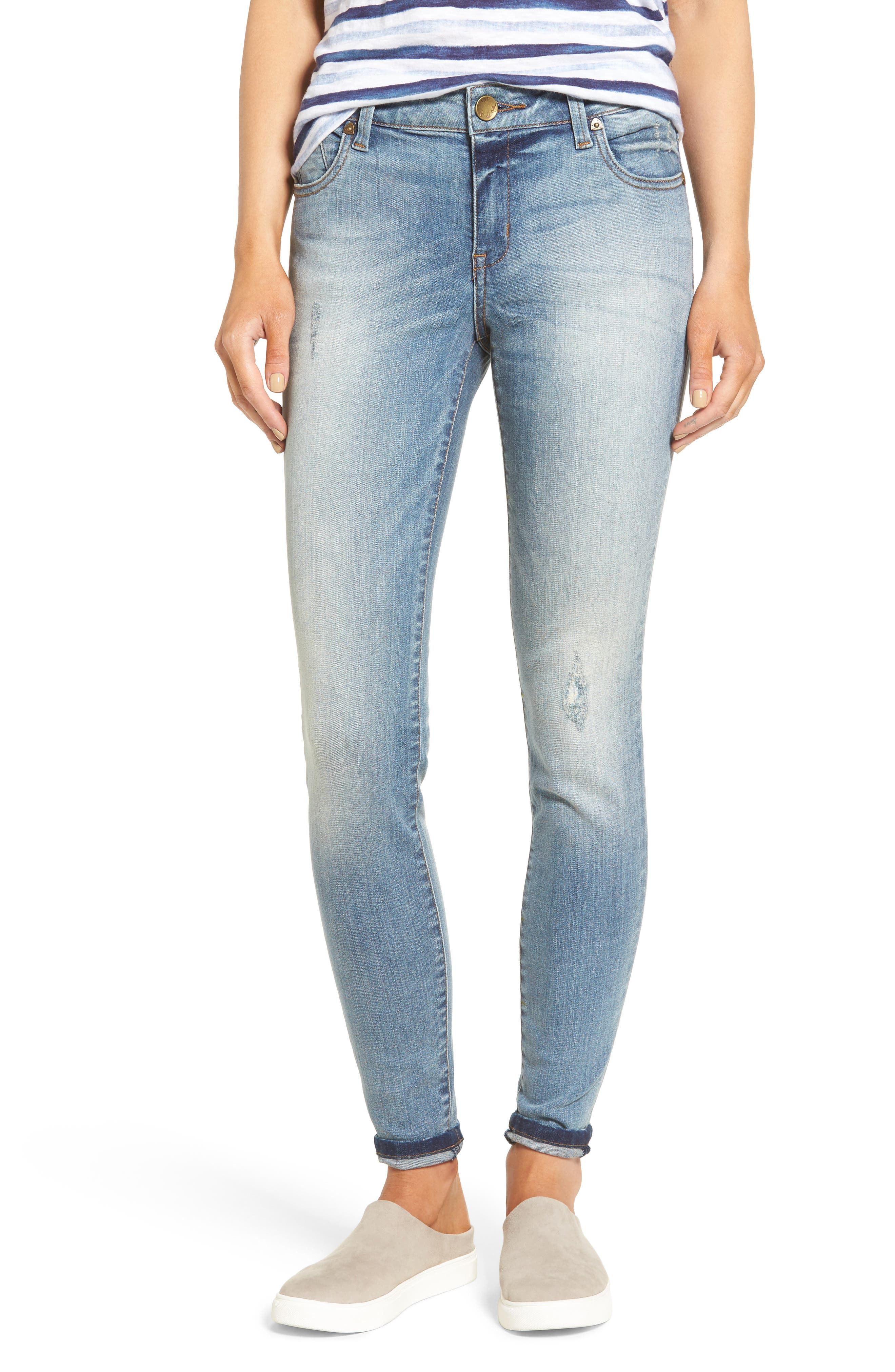 Kut from the Kloth Mia High Waist Skinny Jeans (Hypnotic)