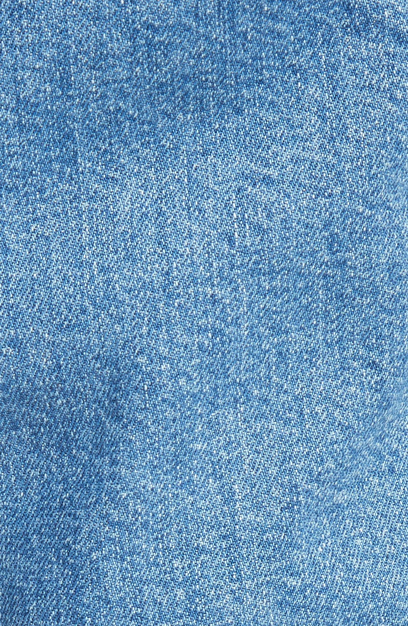 Xenia Ruched Crop Jeans,                             Alternate thumbnail 7, color,                             Blue