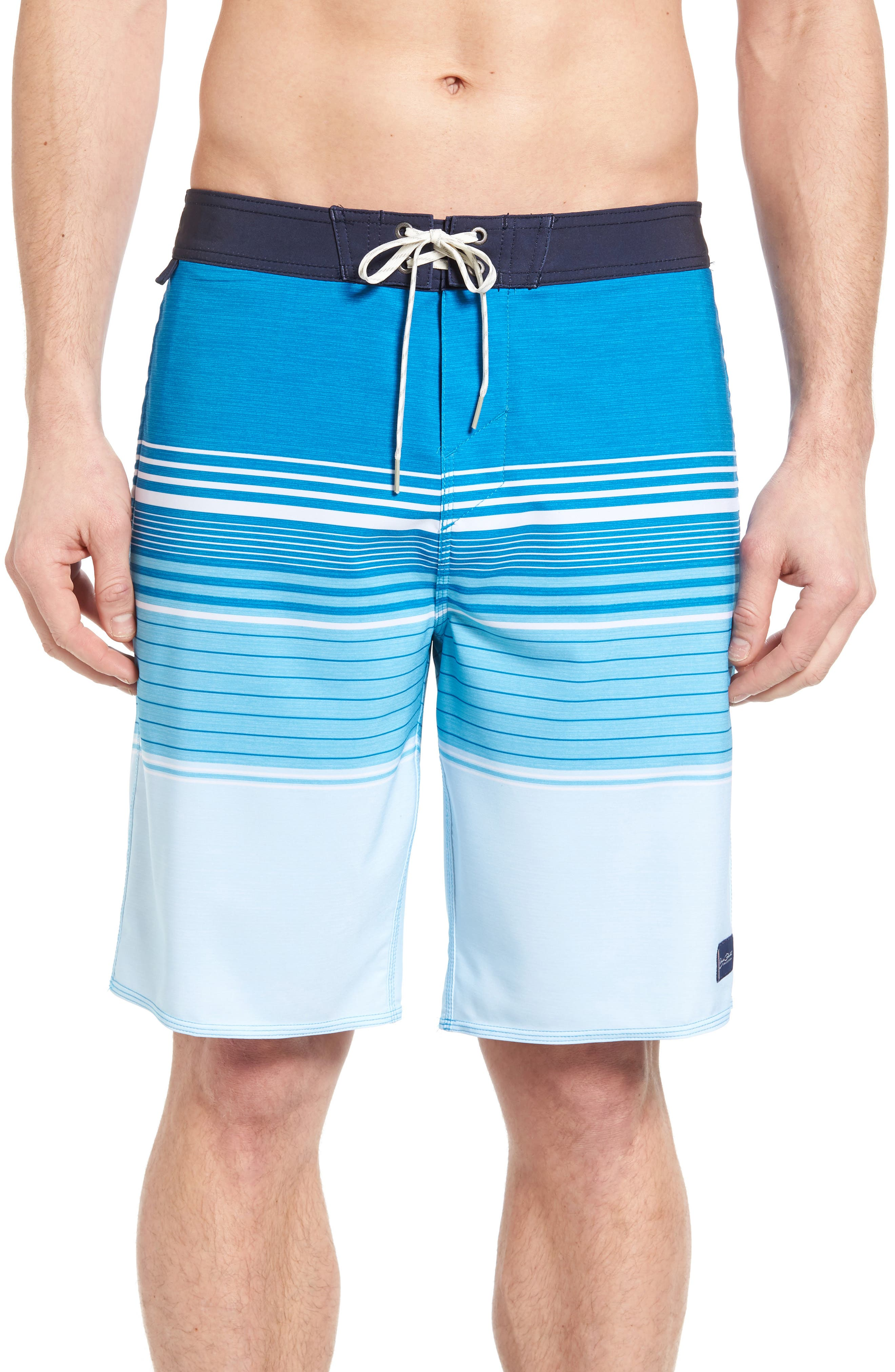 Frontiers Stretch Board Shorts,                         Main,                         color, Cobalt