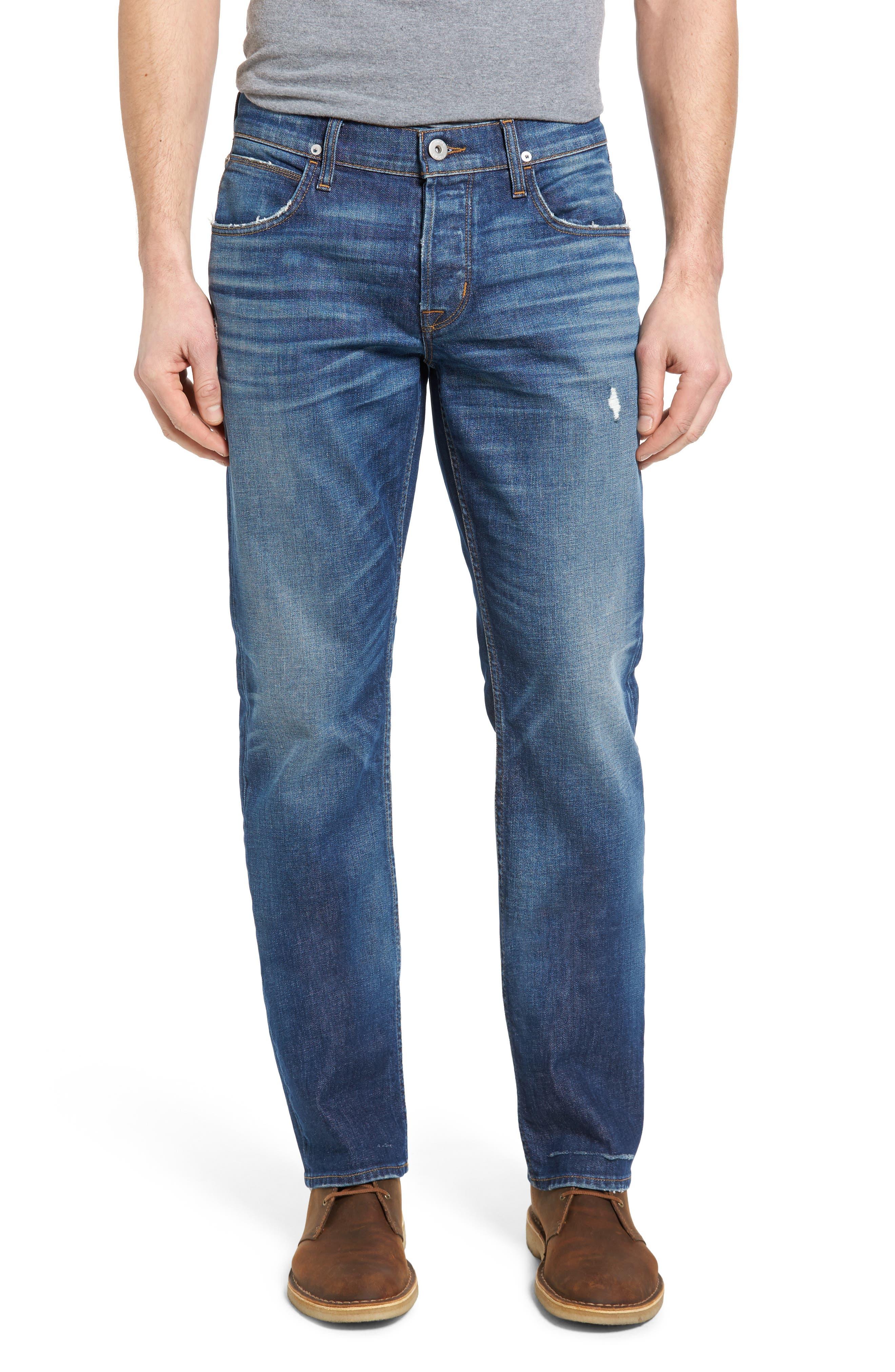 Hudson Jeans Byron Slim Straight Leg Jeans (Top Notch)