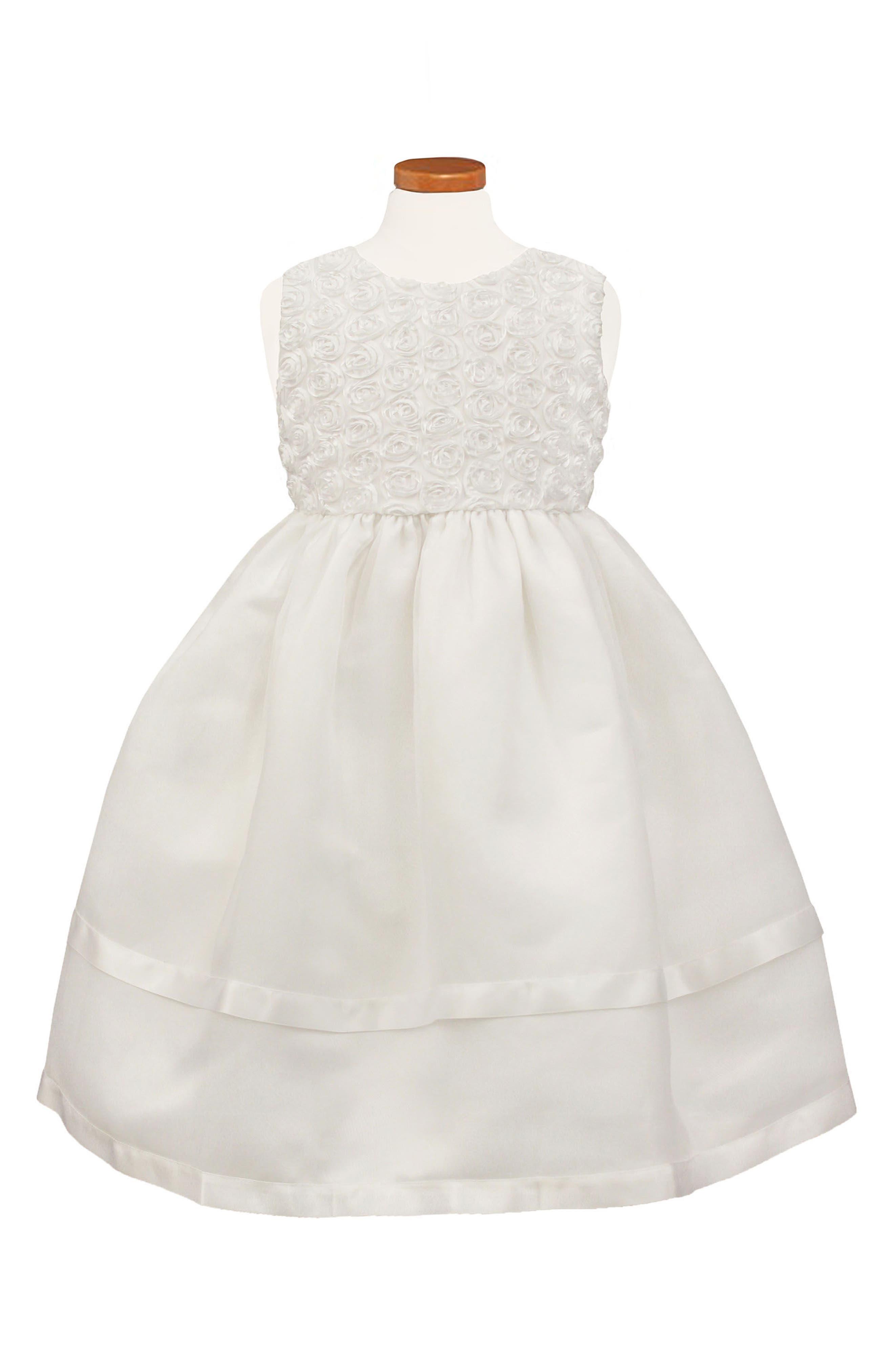 Main Image - Sorbet Sleeveless Organza Dress (Toddler Girls & Little Girls)