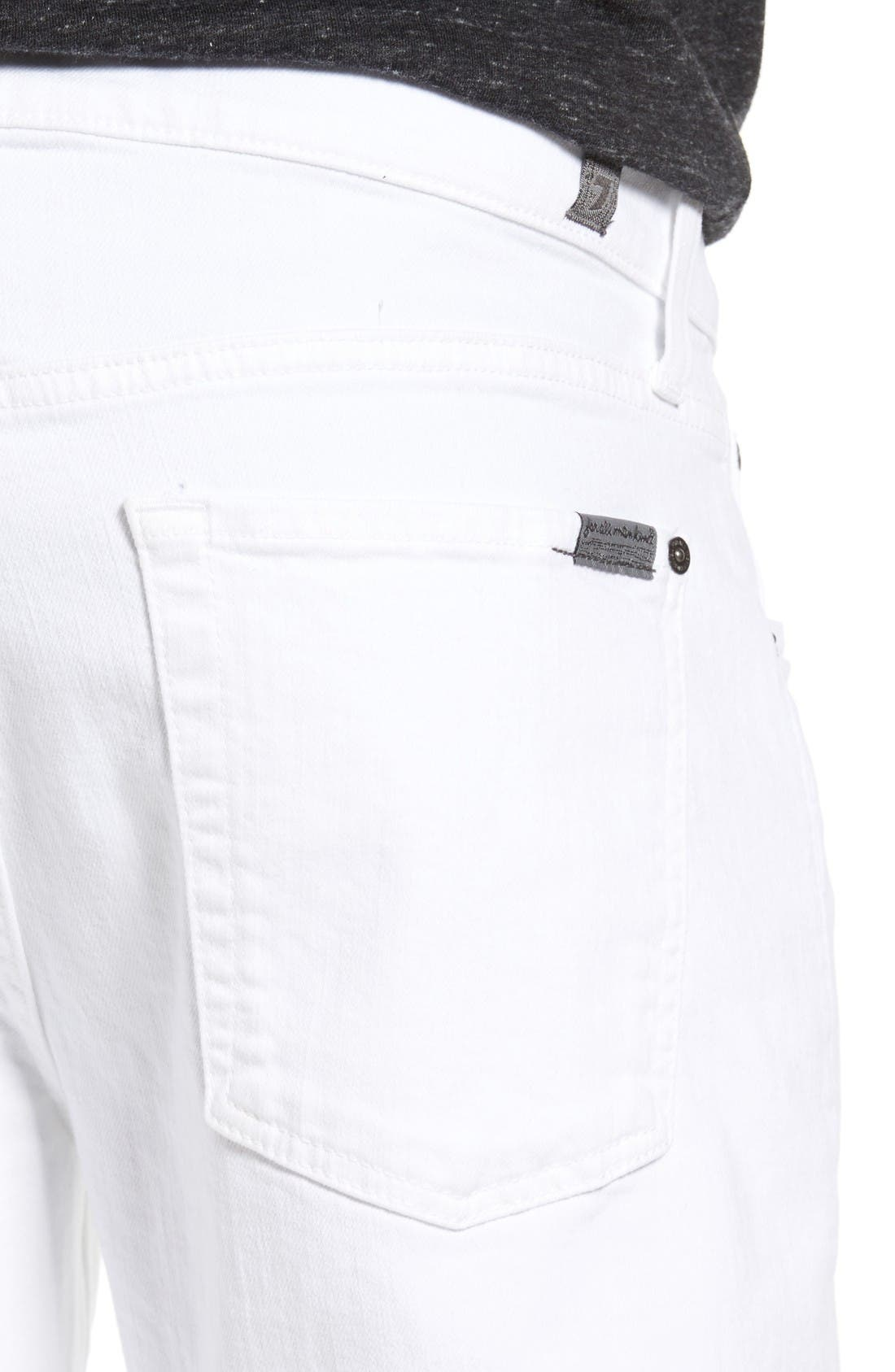Luxe Performance - Slimmy Slim Fit Jeans,                             Alternate thumbnail 4, color,                             White