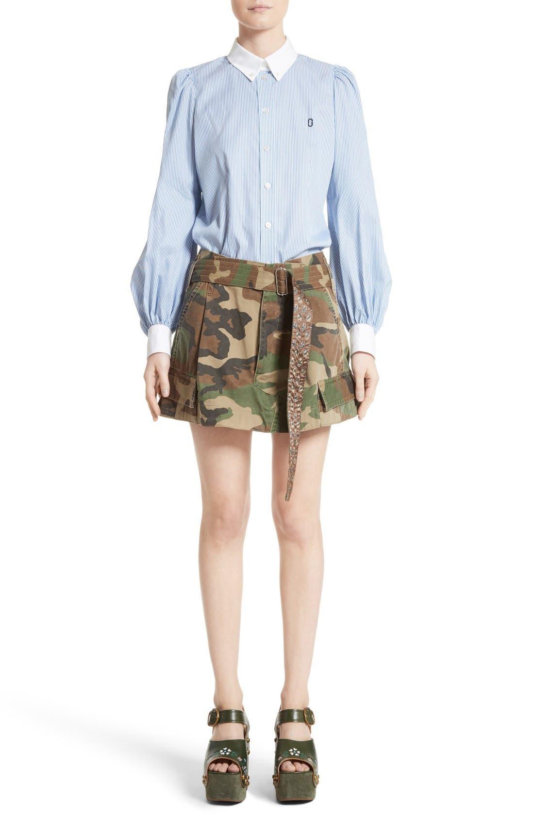 Alternate Image 11  - MARC JACOBS Camo Print Cargo Miniskirt