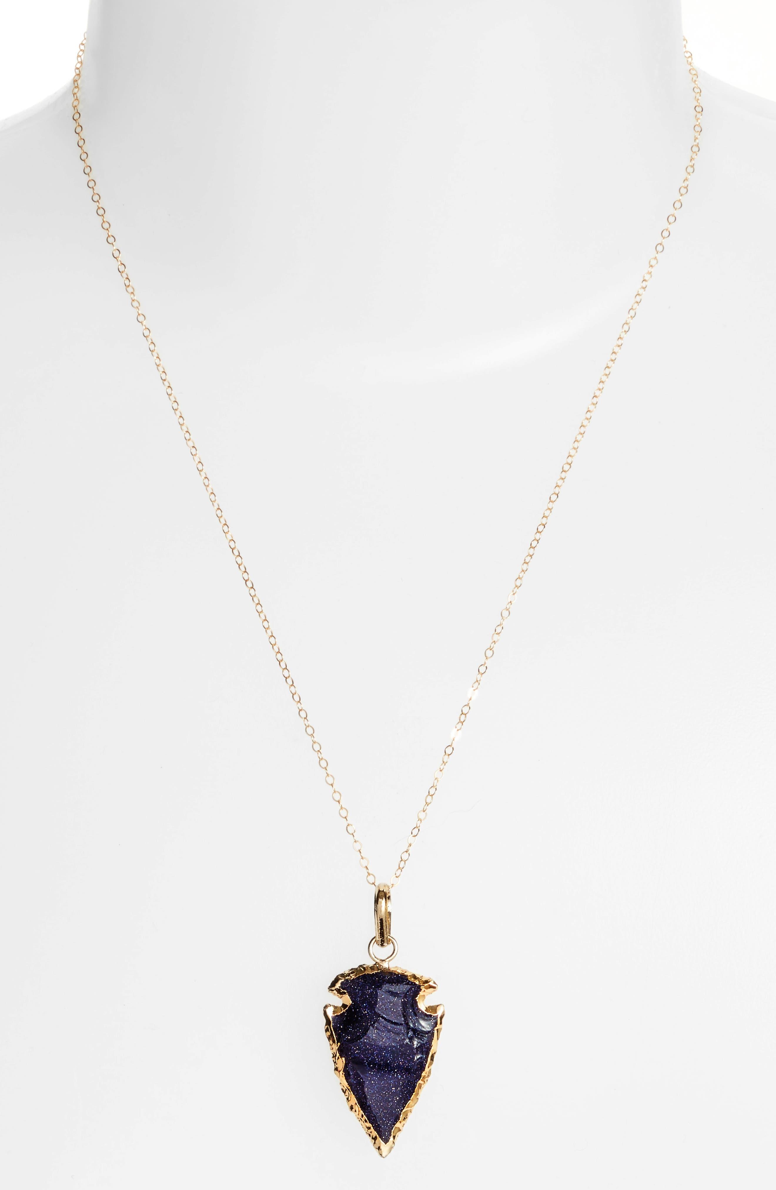 Alternate Image 2  - Love's Affect Stone Arrowhead Necklace