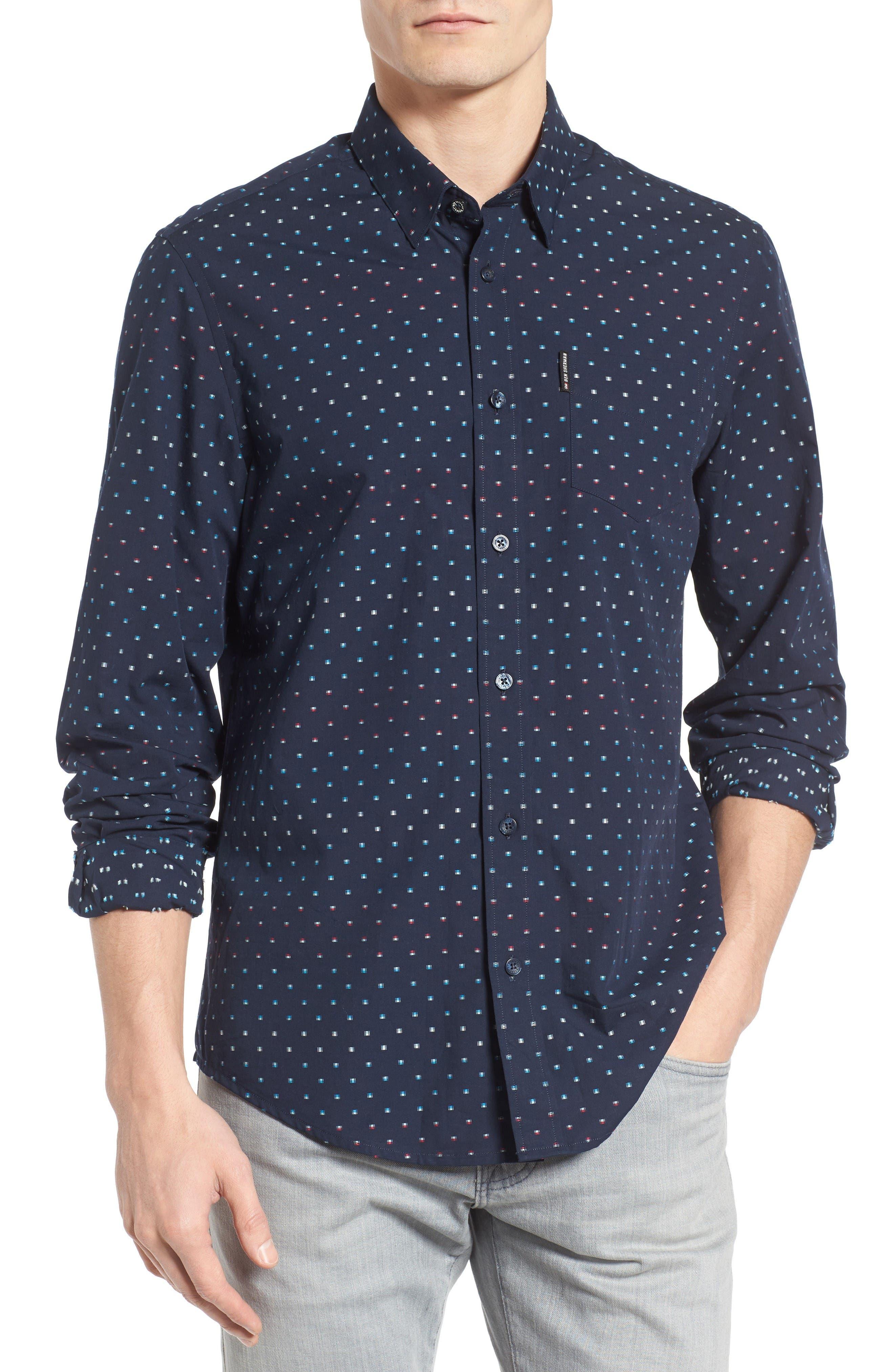 BEN SHERMAN Mod Fit Print Woven Shirt