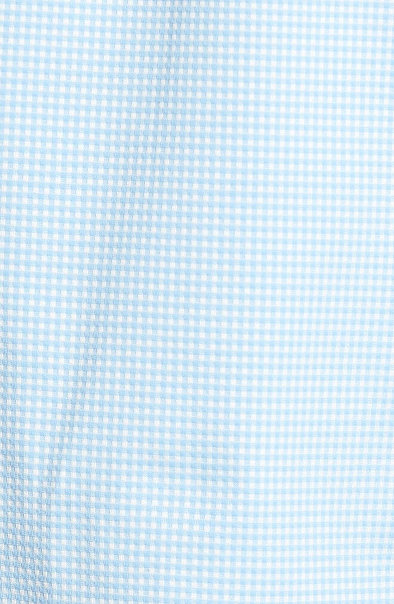 Whitman Dobby Gingham Performance Sport Shirt,                             Alternate thumbnail 5, color,                             Blue