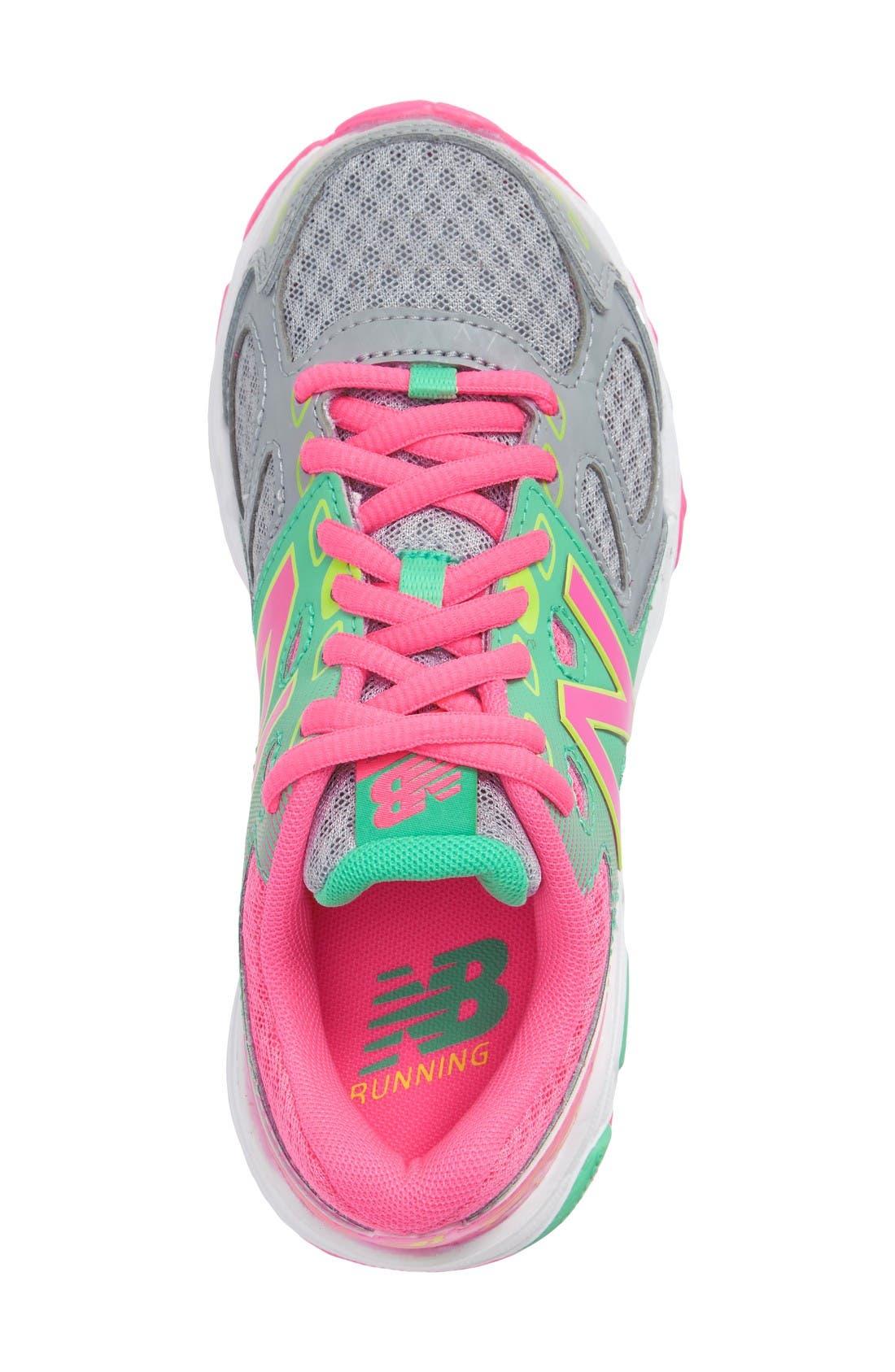 680v3 Sneaker,                             Alternate thumbnail 3, color,                             Grey/Pink