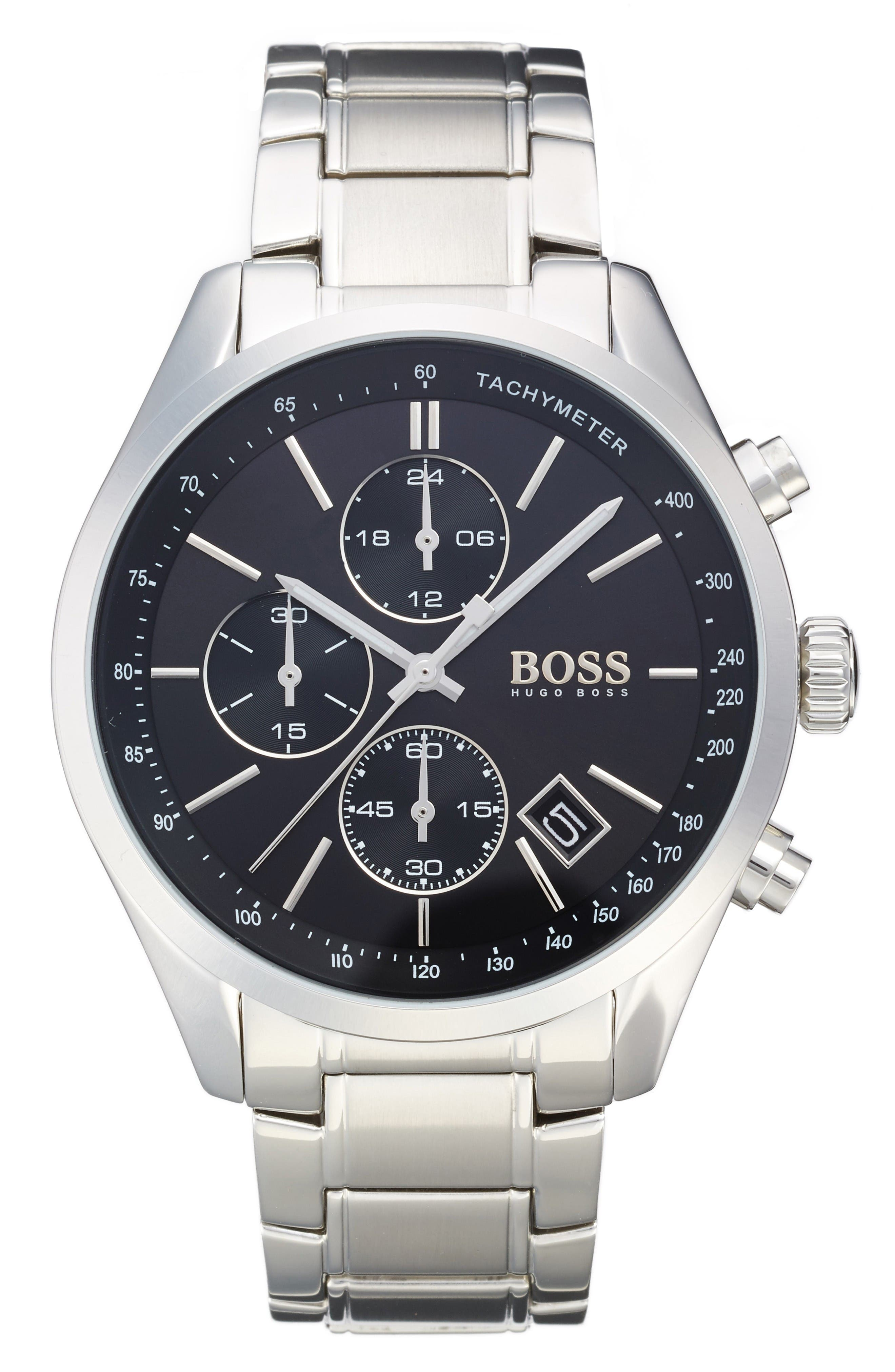 Main Image - BOSS Grand Prix Chronograph Bracelet Watch, 44mm