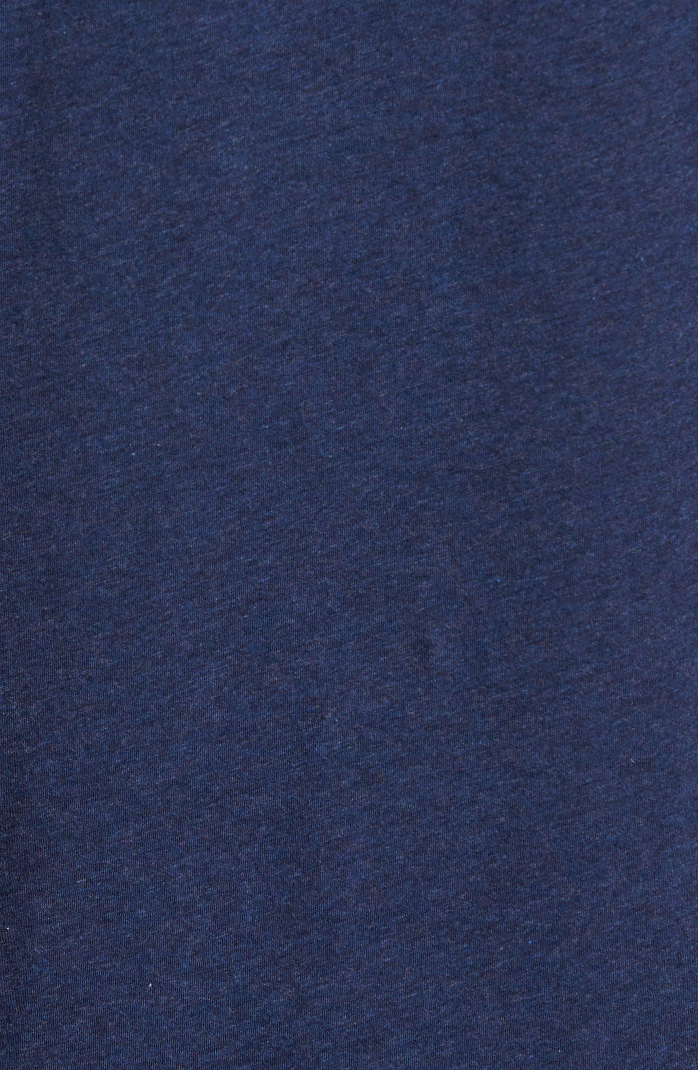 Floral Collar Jersey Polo,                             Alternate thumbnail 5, color,                             Navy