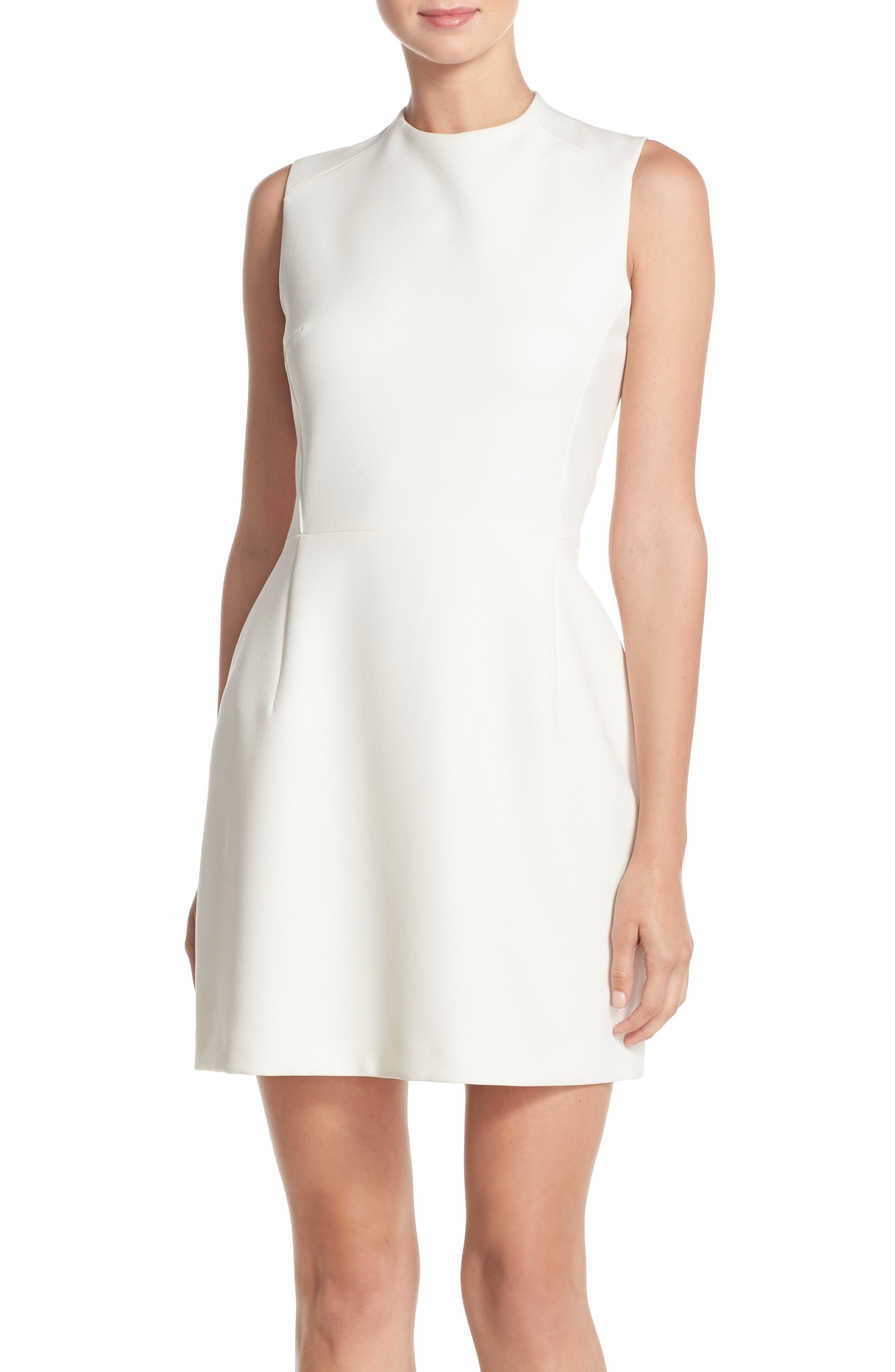 'Sundae'Stretch Minidress,                             Main thumbnail 1, color,                             Summer White