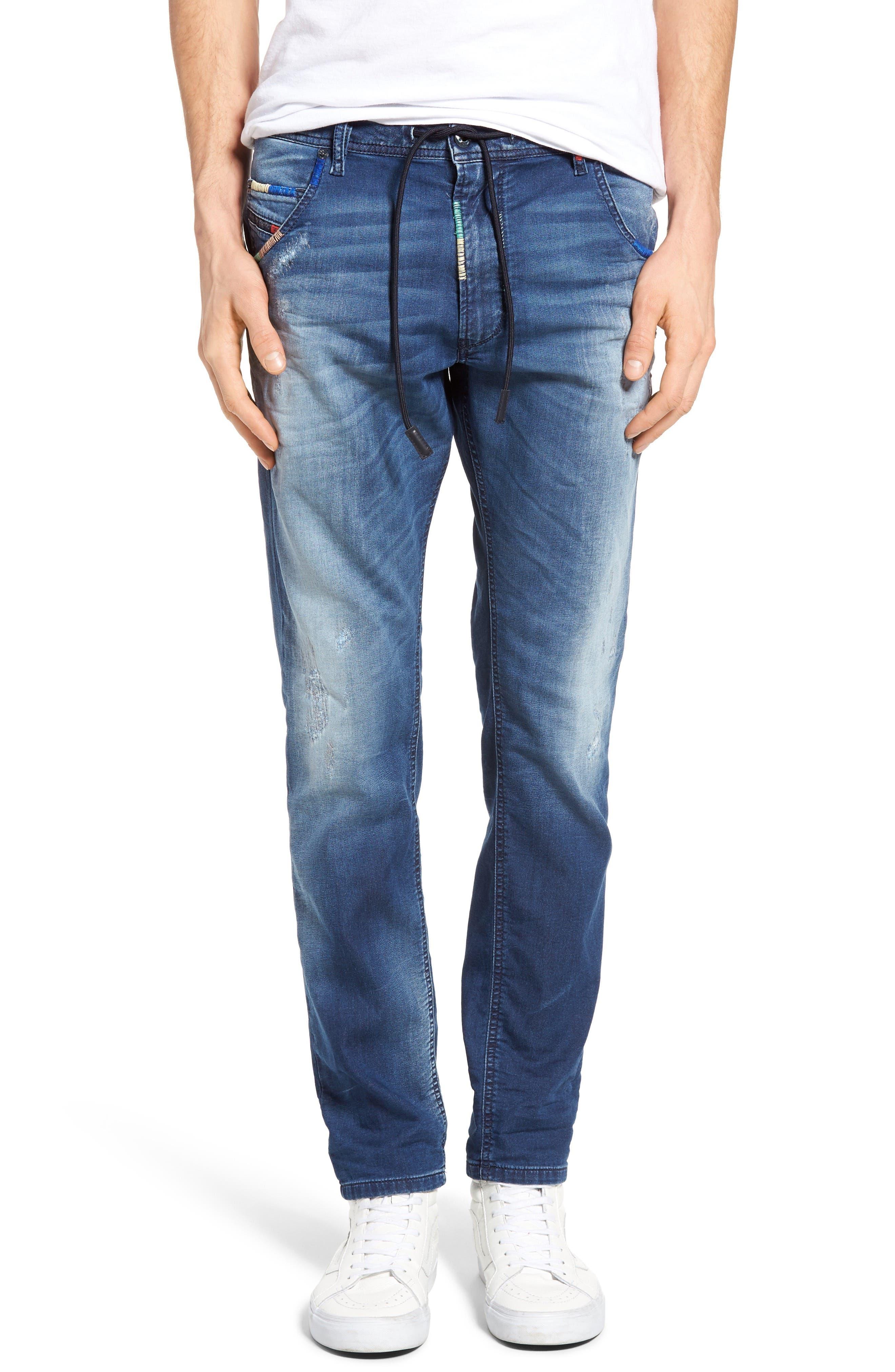 Alternate Image 1 Selected - DIESEL Krooley Jogg Slouchy Slim Fit Jeans (0680Y)