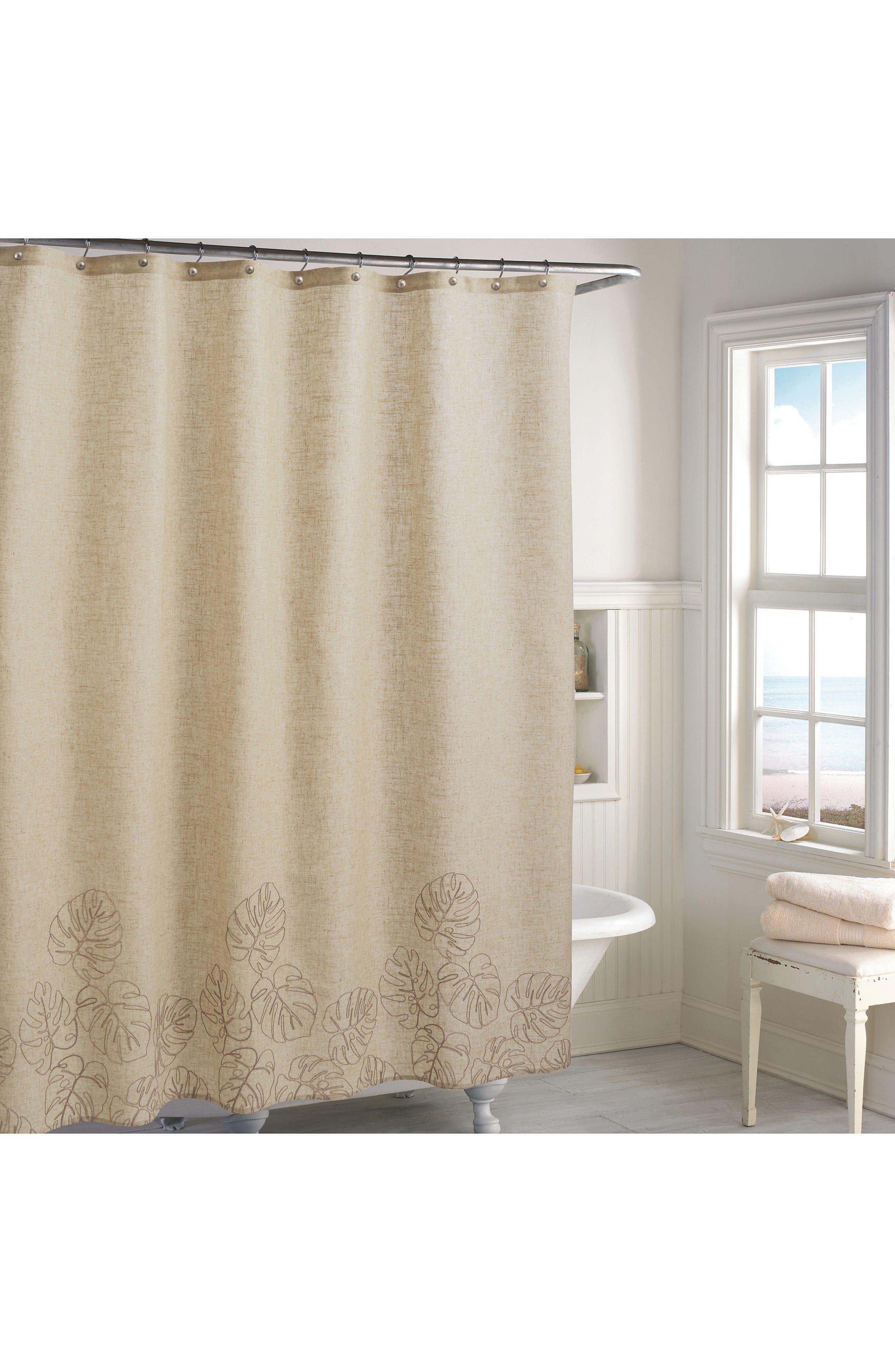 Panama Shower Curtain,                         Main,                         color, Linen