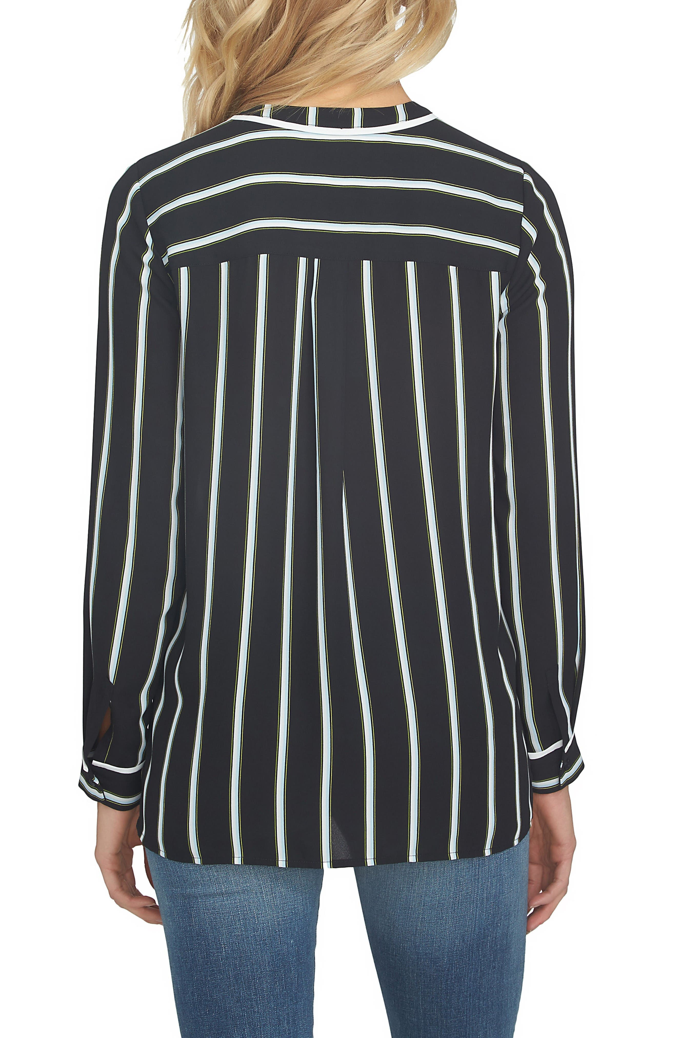 Alternate Image 2  - 1.STATE Stripe High/Low Blouse
