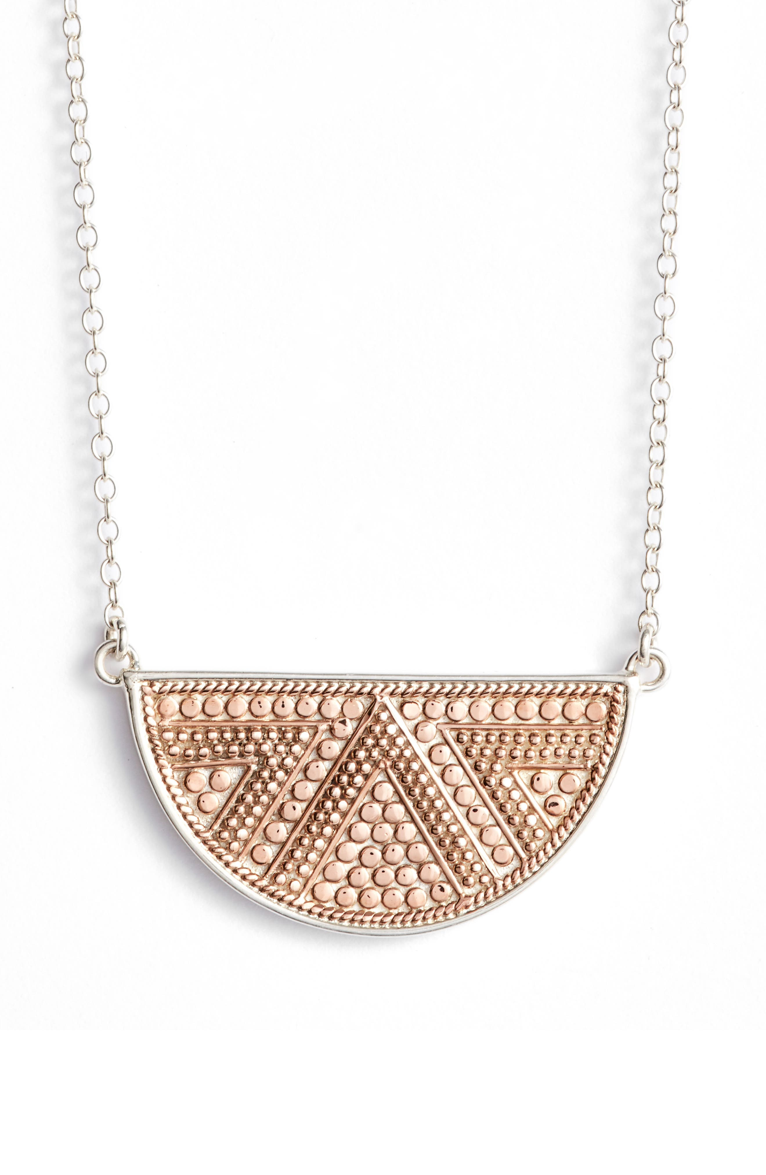 ANNA BECK Reversible Half Moon Pendant Necklace