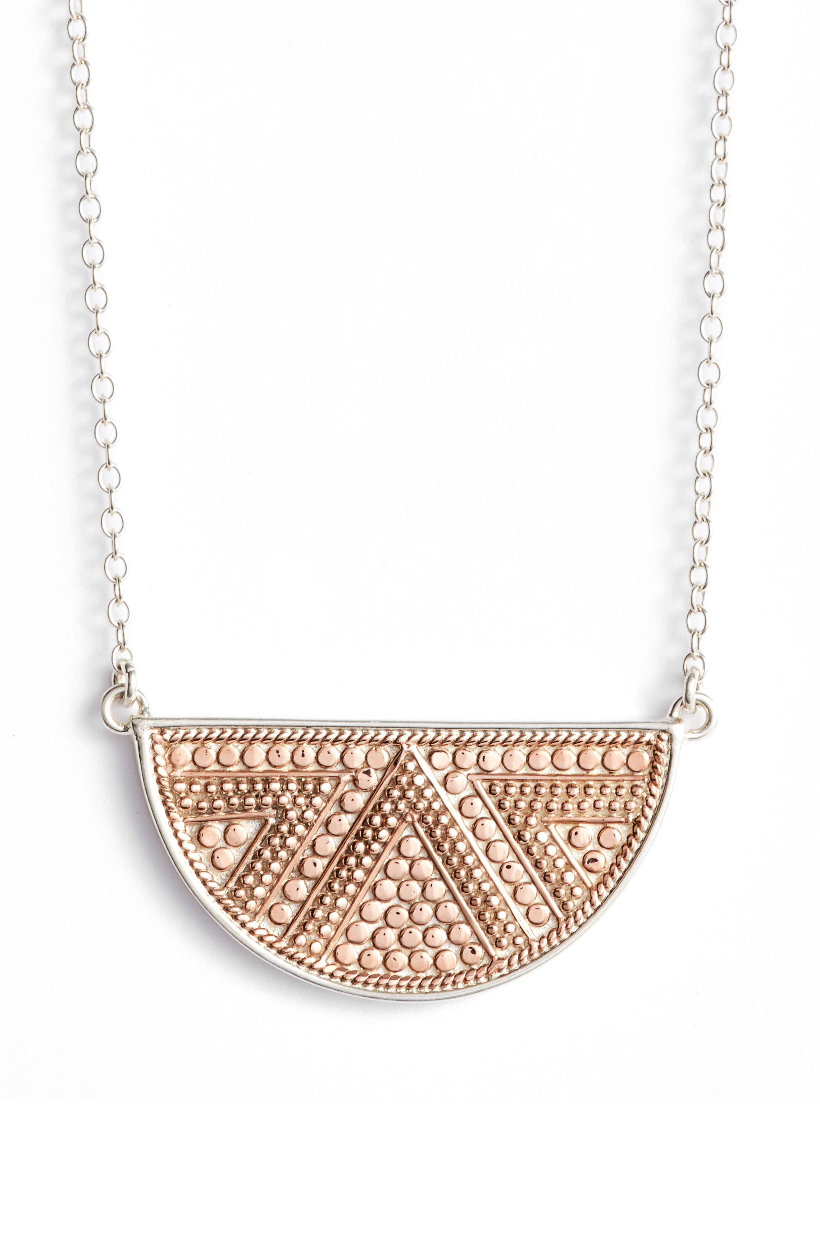 Anna Beck Reversible Half Moon Pendant Necklace