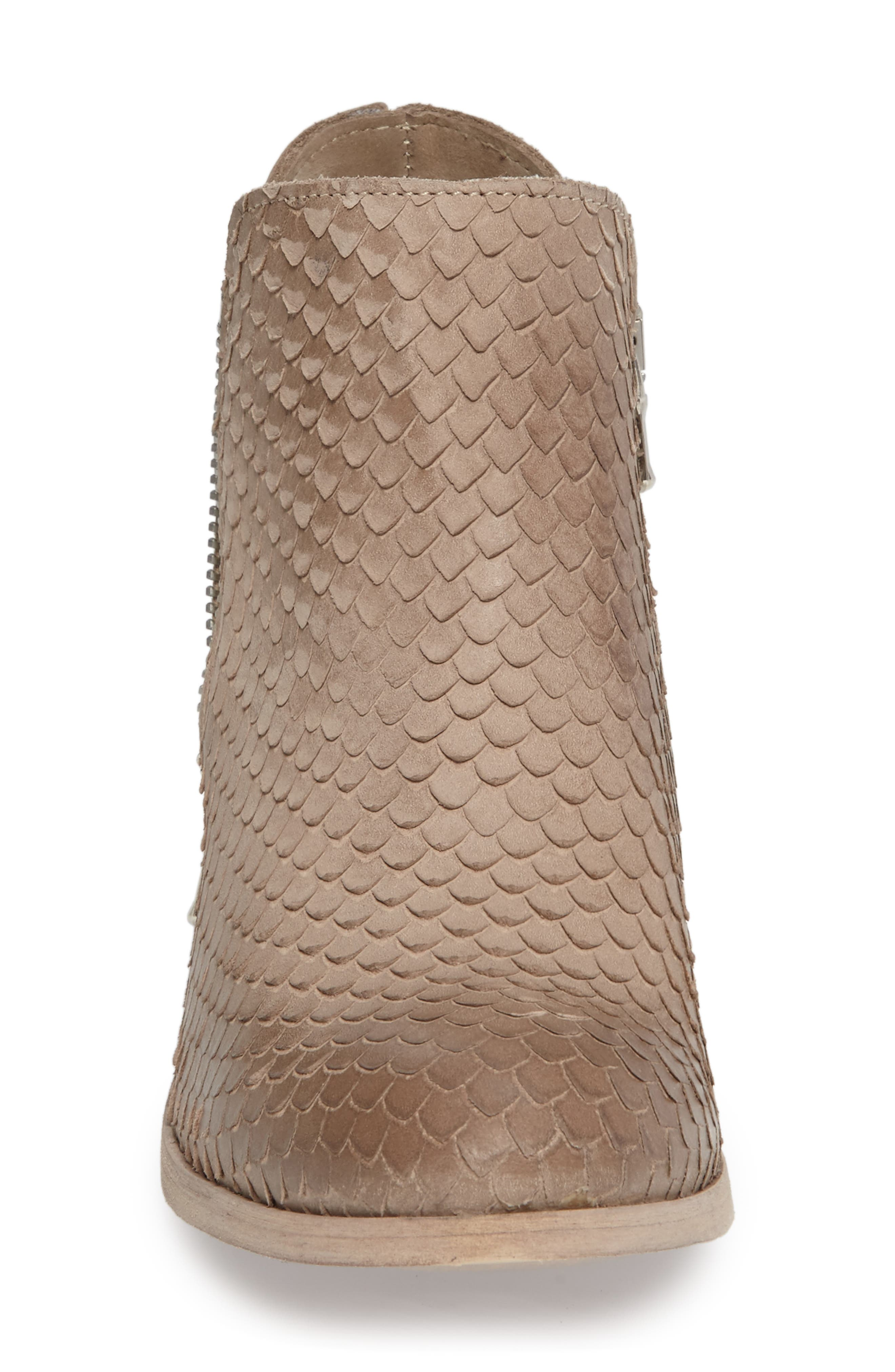 Cher Snake Embossed Bootie,                             Alternate thumbnail 3, color,                             Light Tan Printed Leather