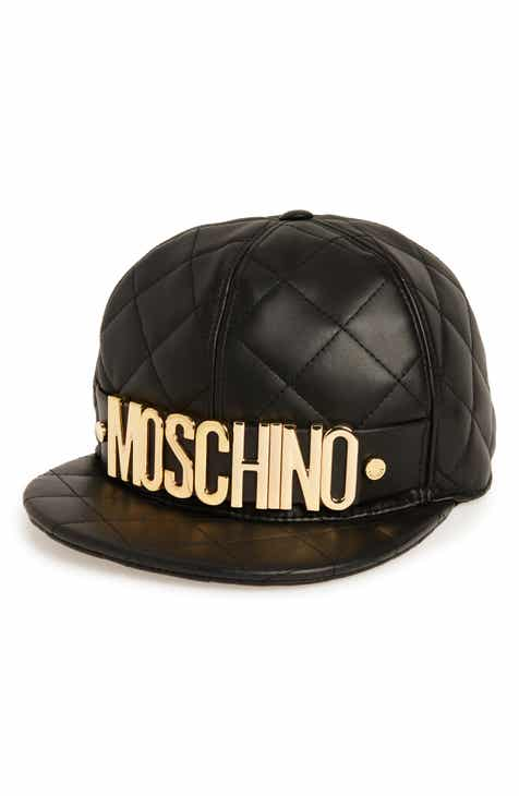 2a43bd3e154 Moschino Quilted Leather Baseball Cap
