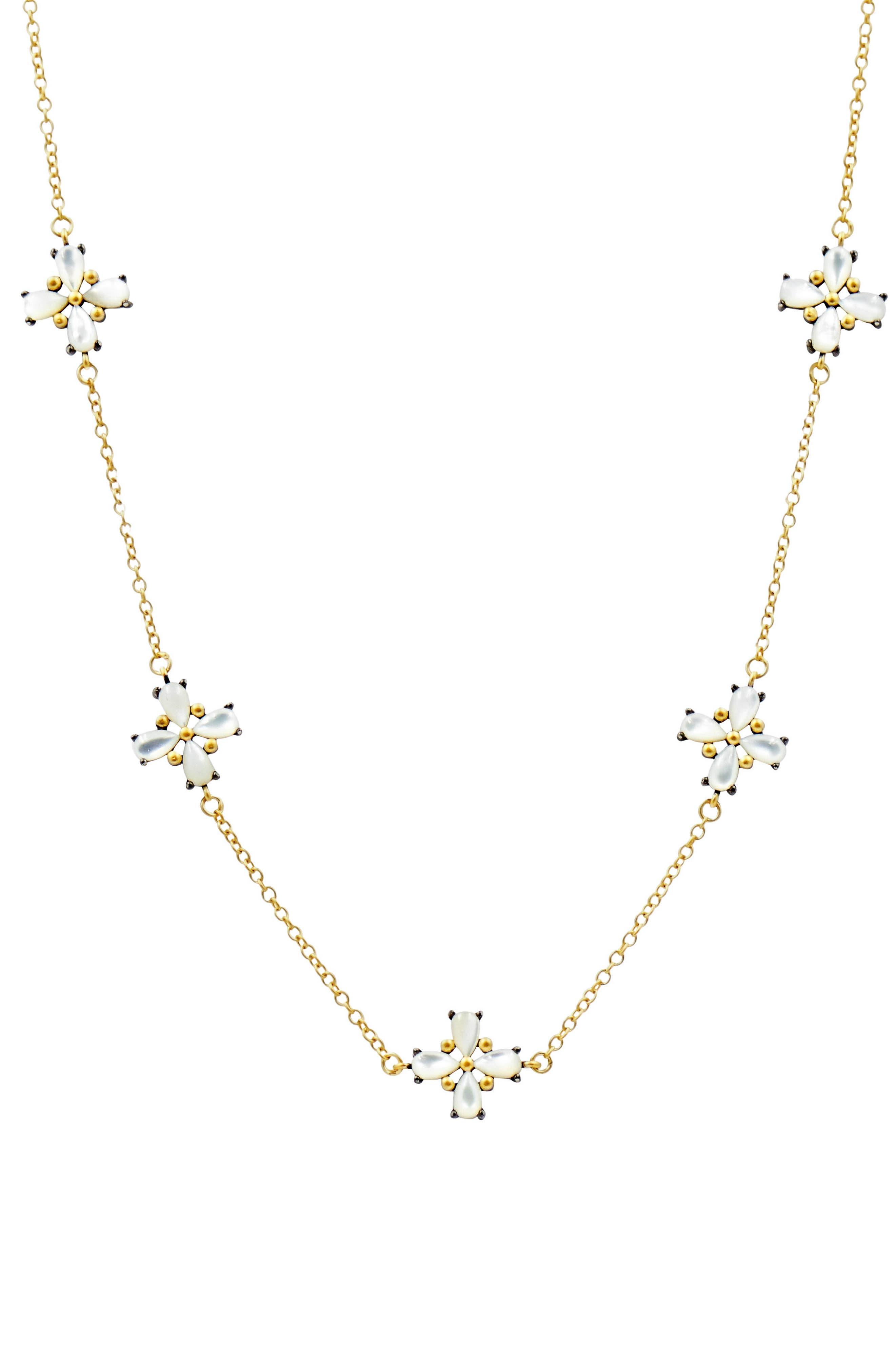 FREIDA ROTHMAN Fleur Bloom Station Necklace