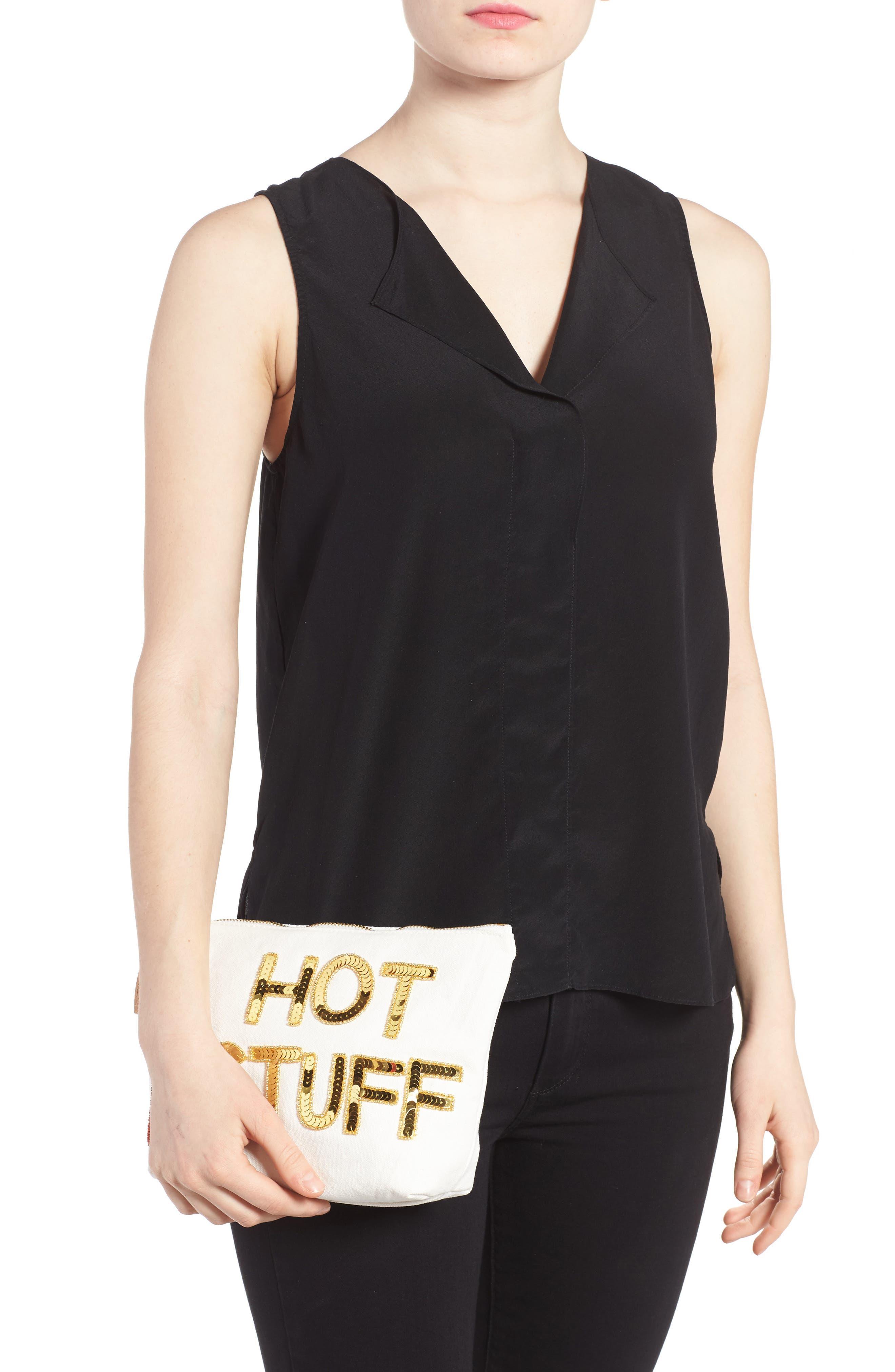 Alternate Image 2  - Bow & Drape Hot Stuff Pouch