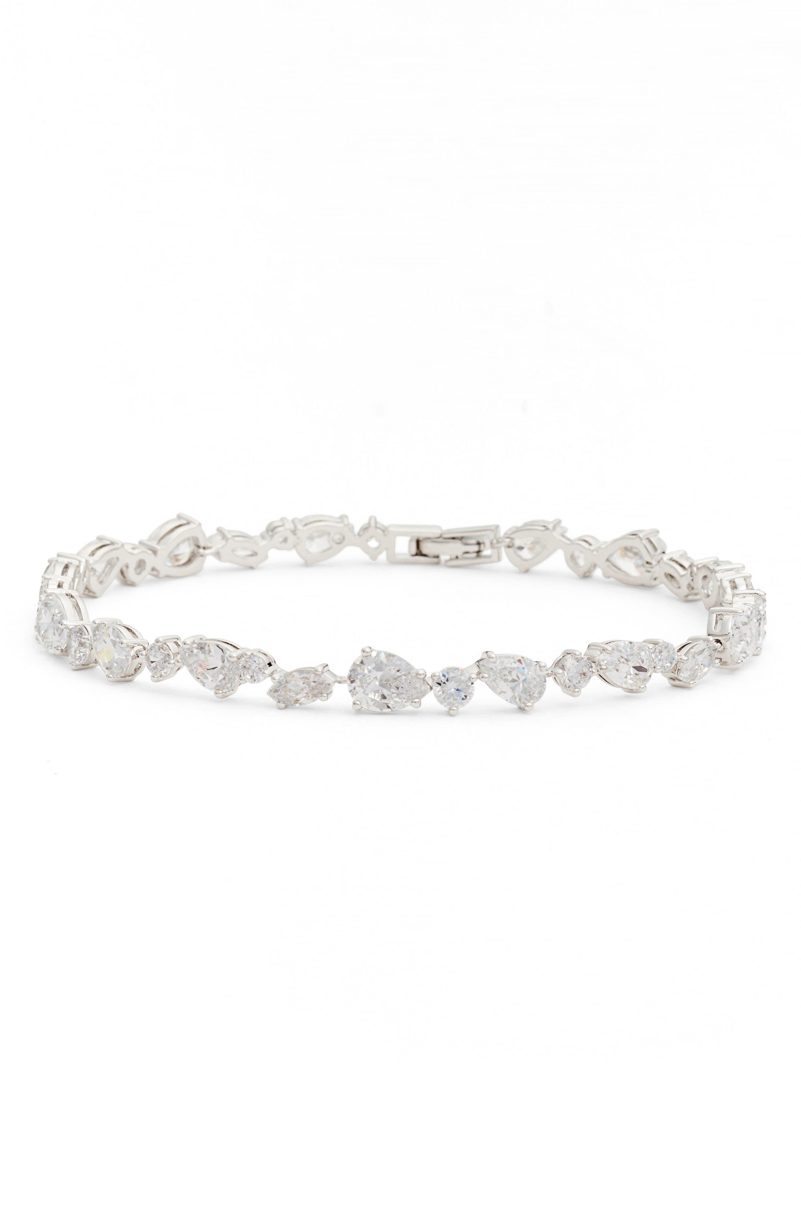 Ava Line Bracelet,                             Main thumbnail 1, color,                             Silver
