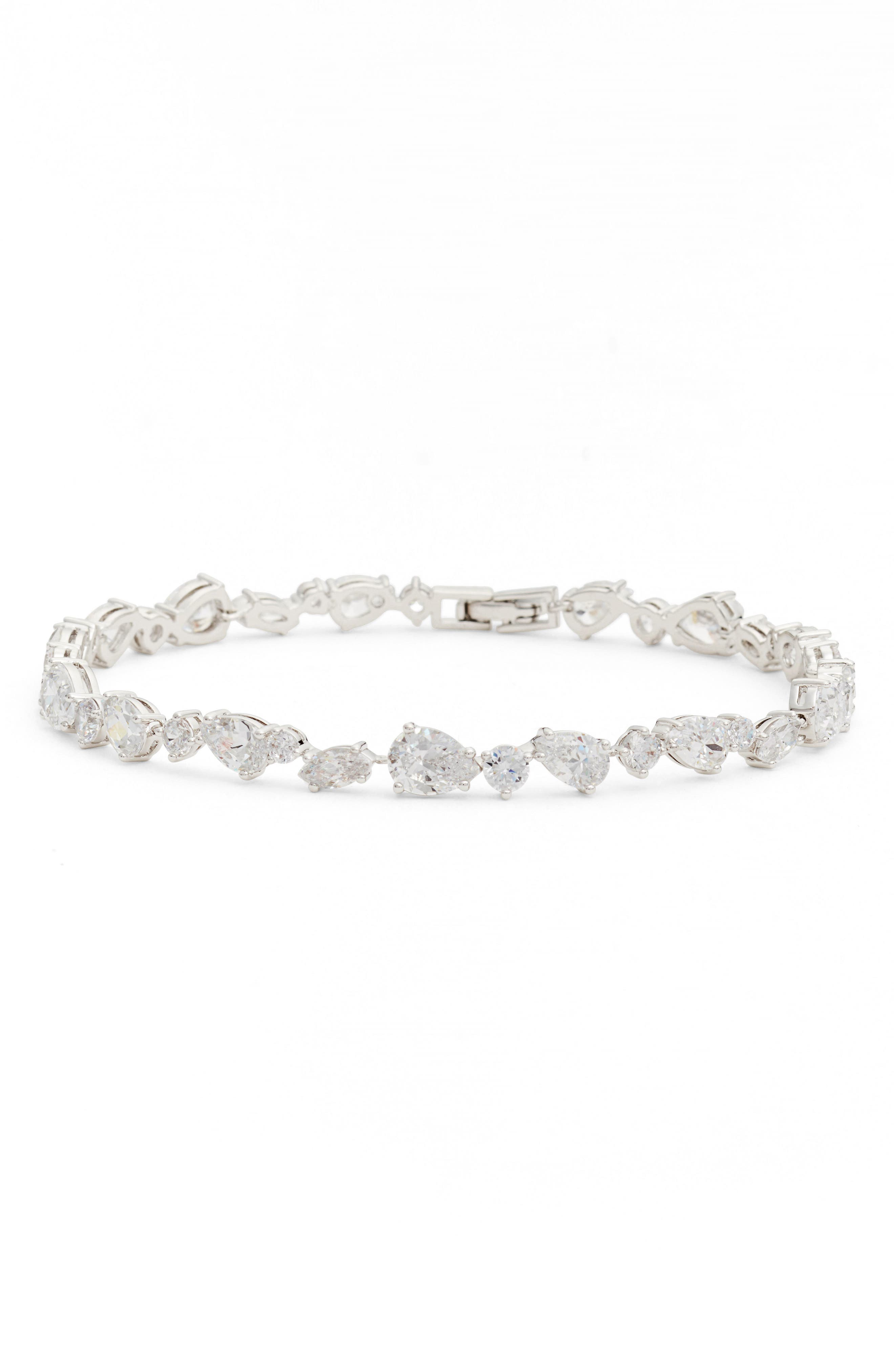 Ava Line Bracelet,                         Main,                         color, Silver