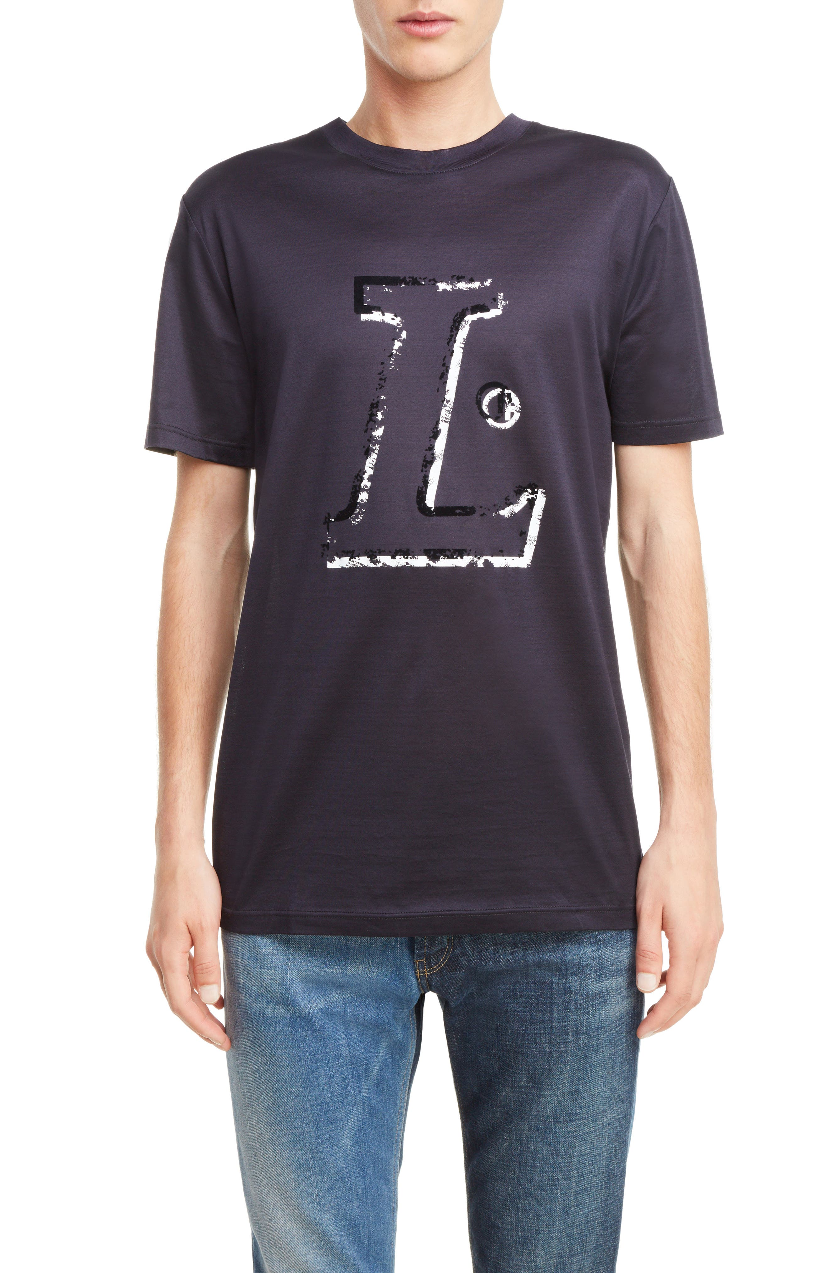 Graphic T-Shirt,                         Main,                         color, Midnight Blue