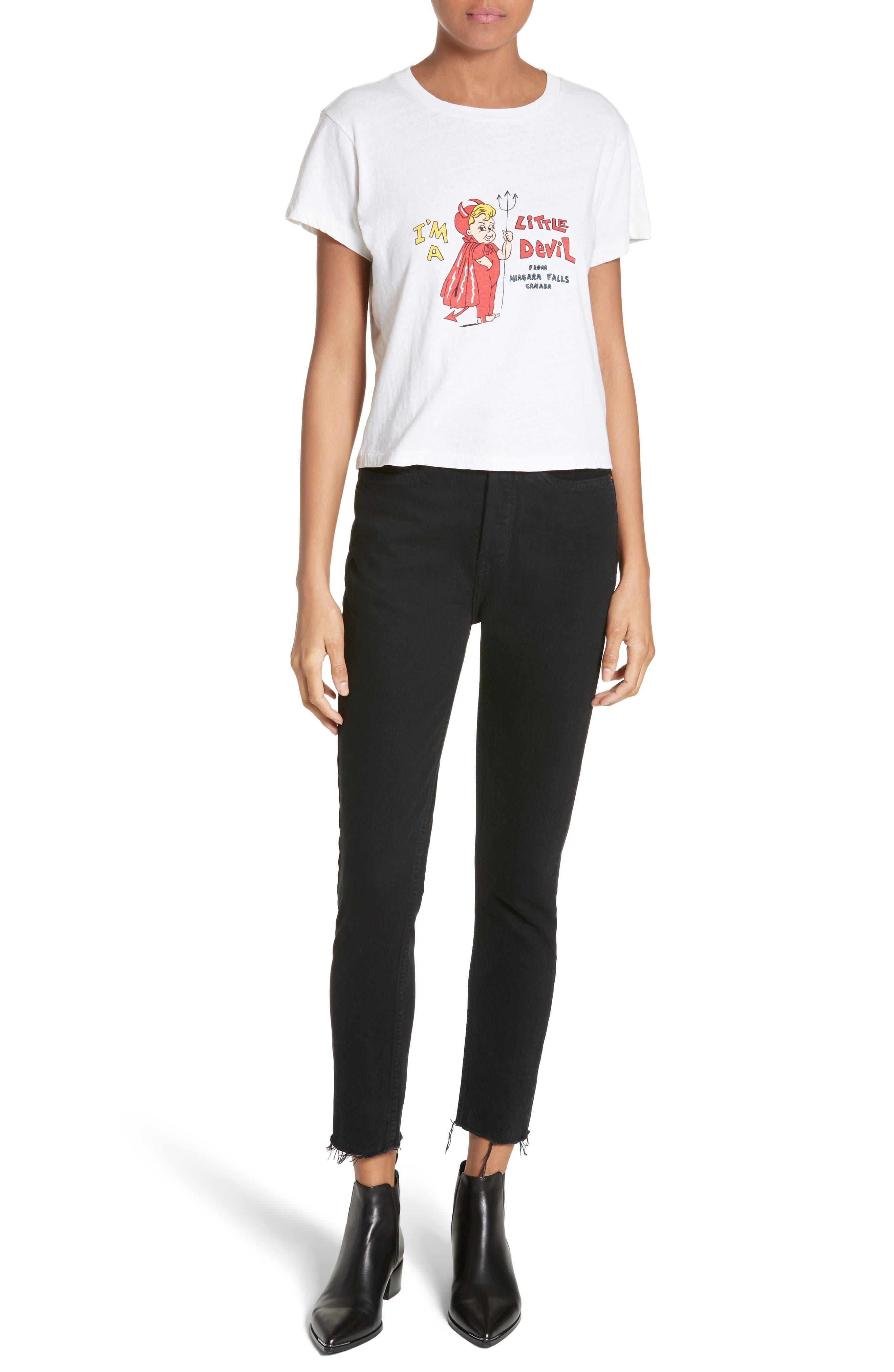 Alternate Image 2  - Re/Done High Waist Crop Jeans